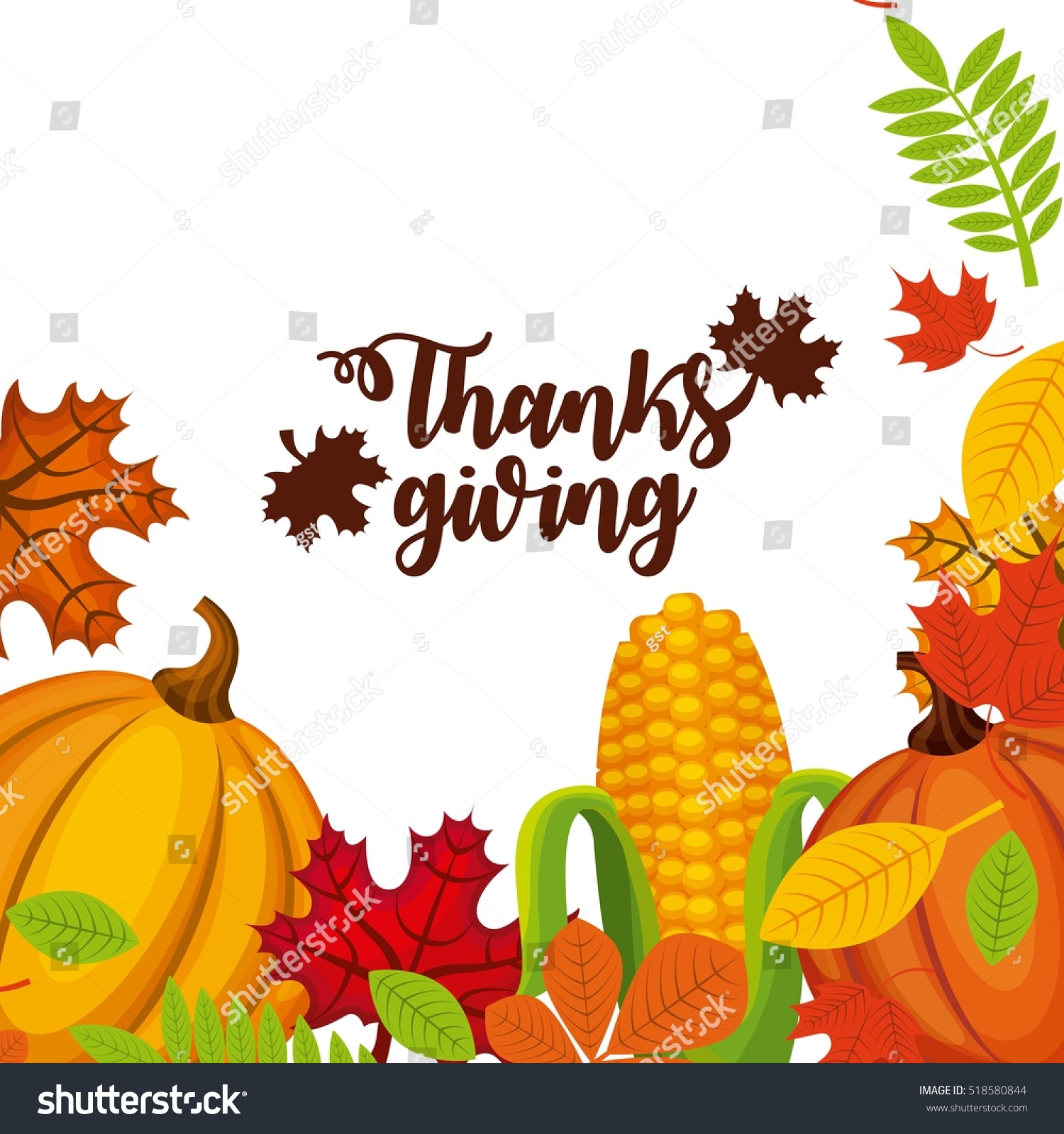 Happy thanksgiving card decorative pumpkin dry stock vector happy thanksgiving card with decorative pumpkin and dry leaves colorful design vector illustration kristyandbryce Choice Image