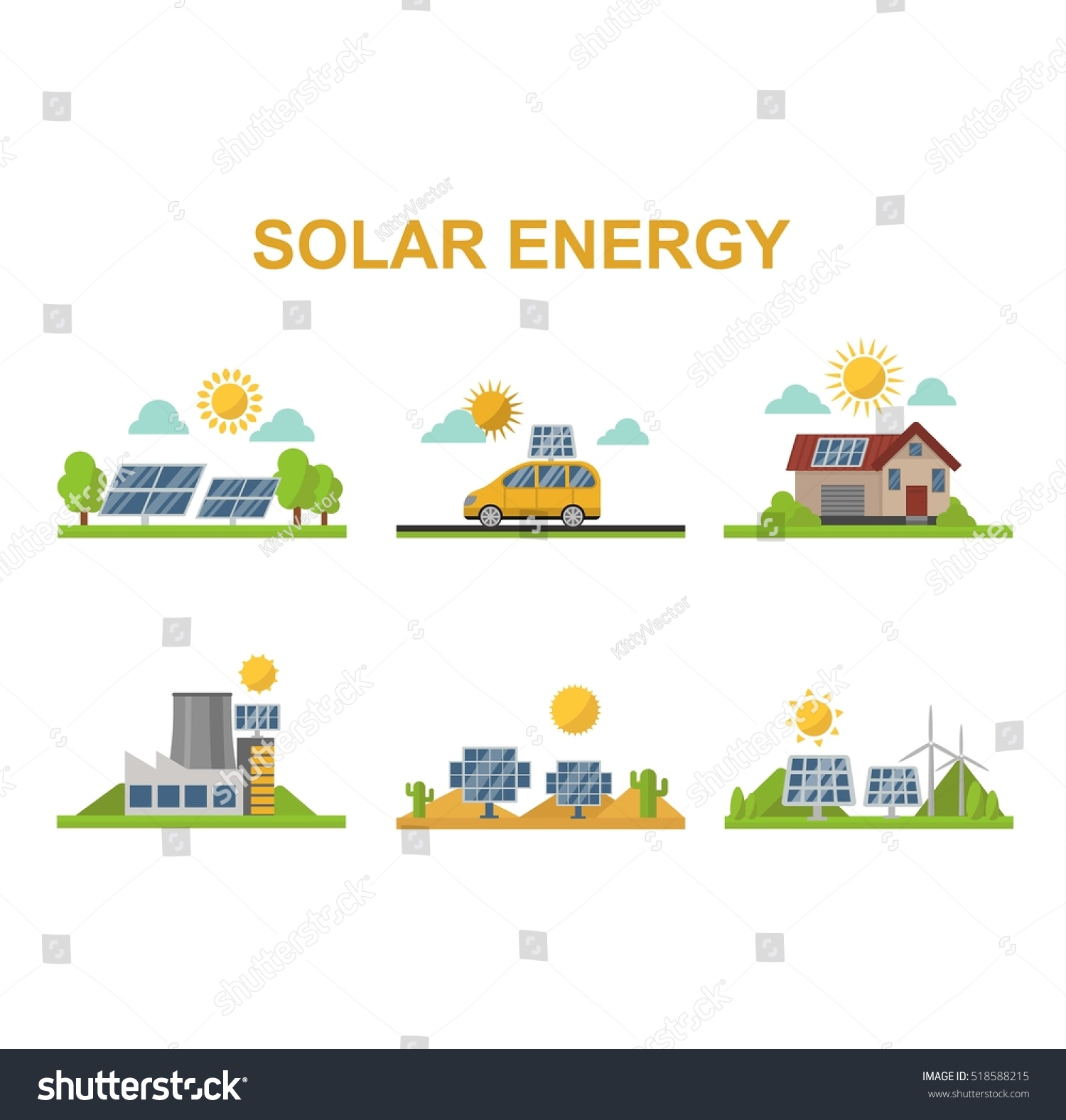 sun solar energy vector set 518588215 shutterstock. Black Bedroom Furniture Sets. Home Design Ideas