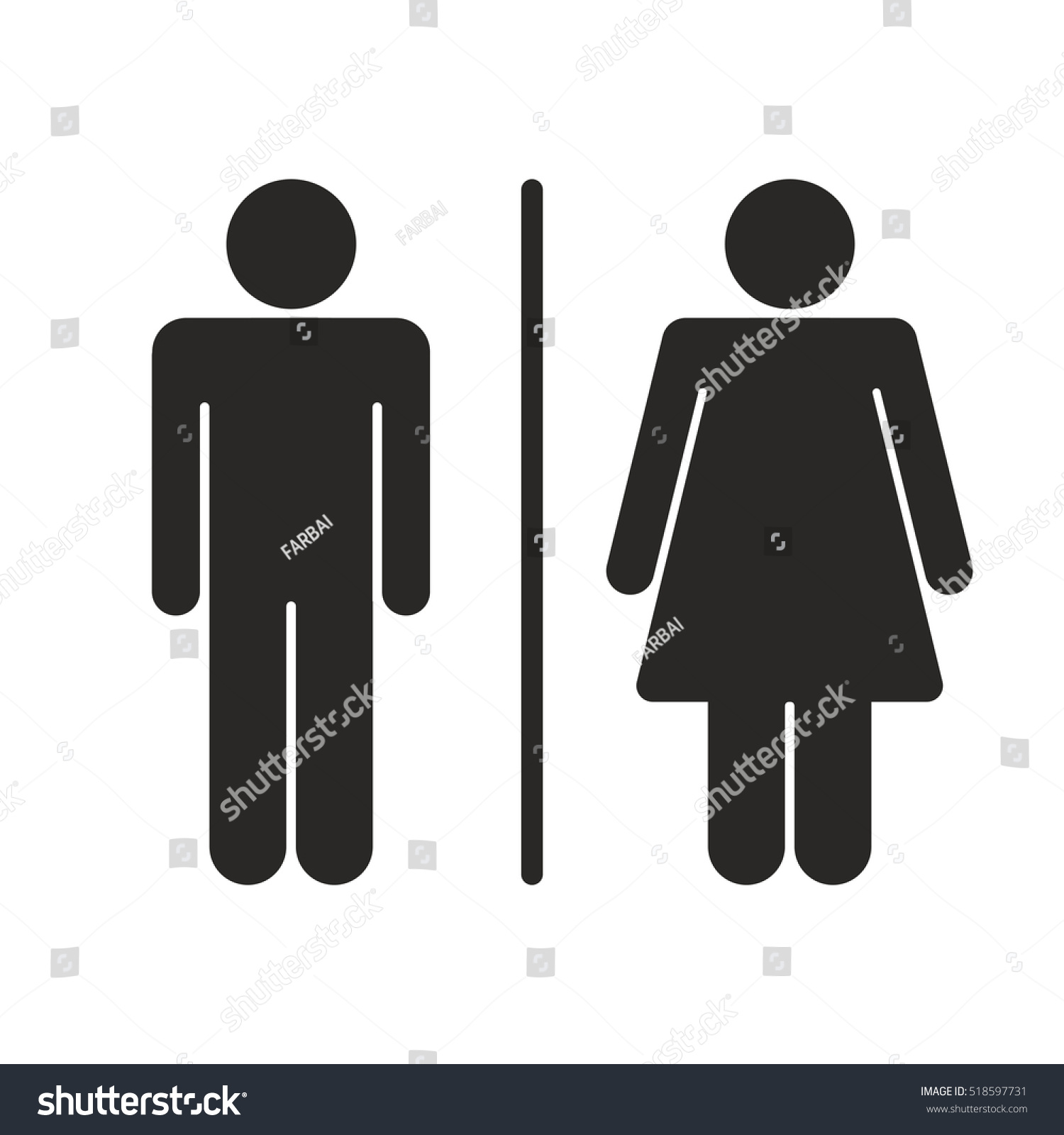 Toilet sign men women vector stock vector 518597731 shutterstock toilet sign men and women vector biocorpaavc Choice Image