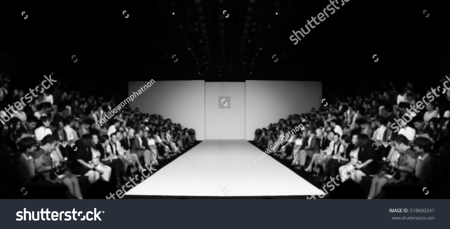 fashion runway out focusblur background stock photo