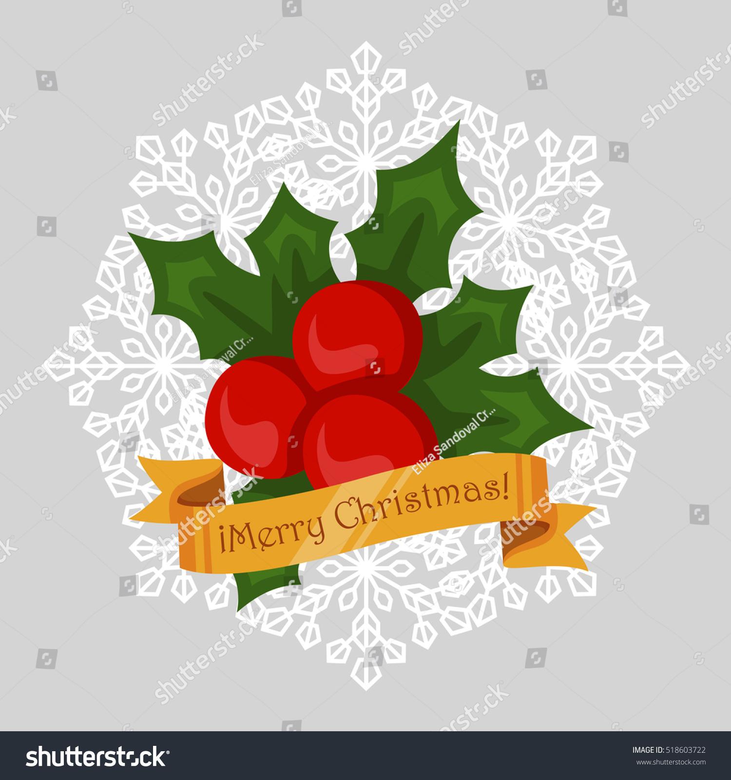 Christmas mistletoe symbol stock vector 518603722 shutterstock christmas mistletoe symbol buycottarizona Image collections