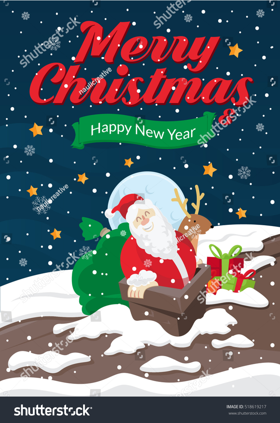 Modern nice detail merry christmas card stock vector royalty free modern nice detail merry christmas card santa claus illustration suitable for brochure flyer m4hsunfo