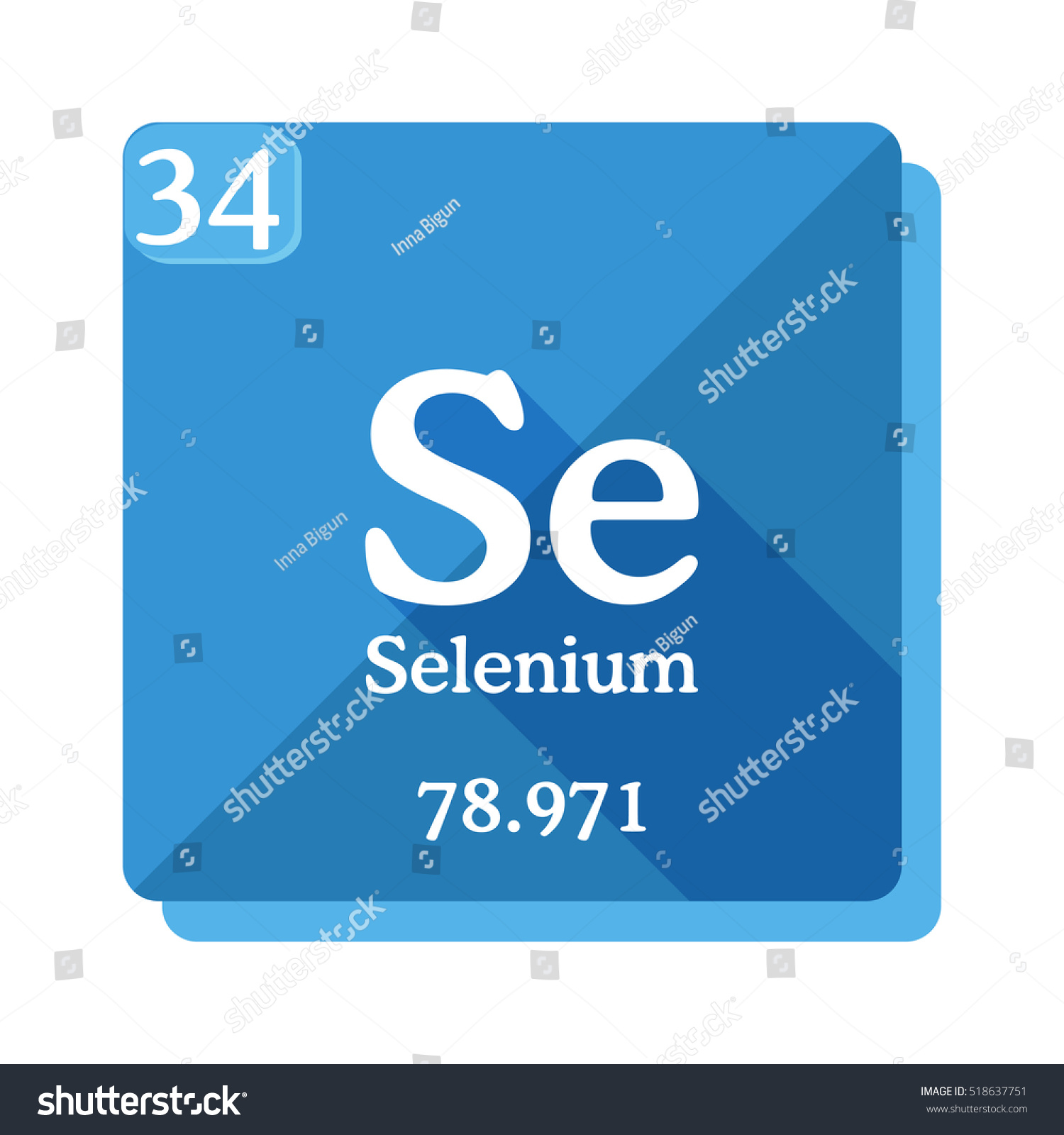 Selenium se element periodic table flat stock vector 518637751 selenium se element of the periodic table flat icon with long shadow gamestrikefo Images