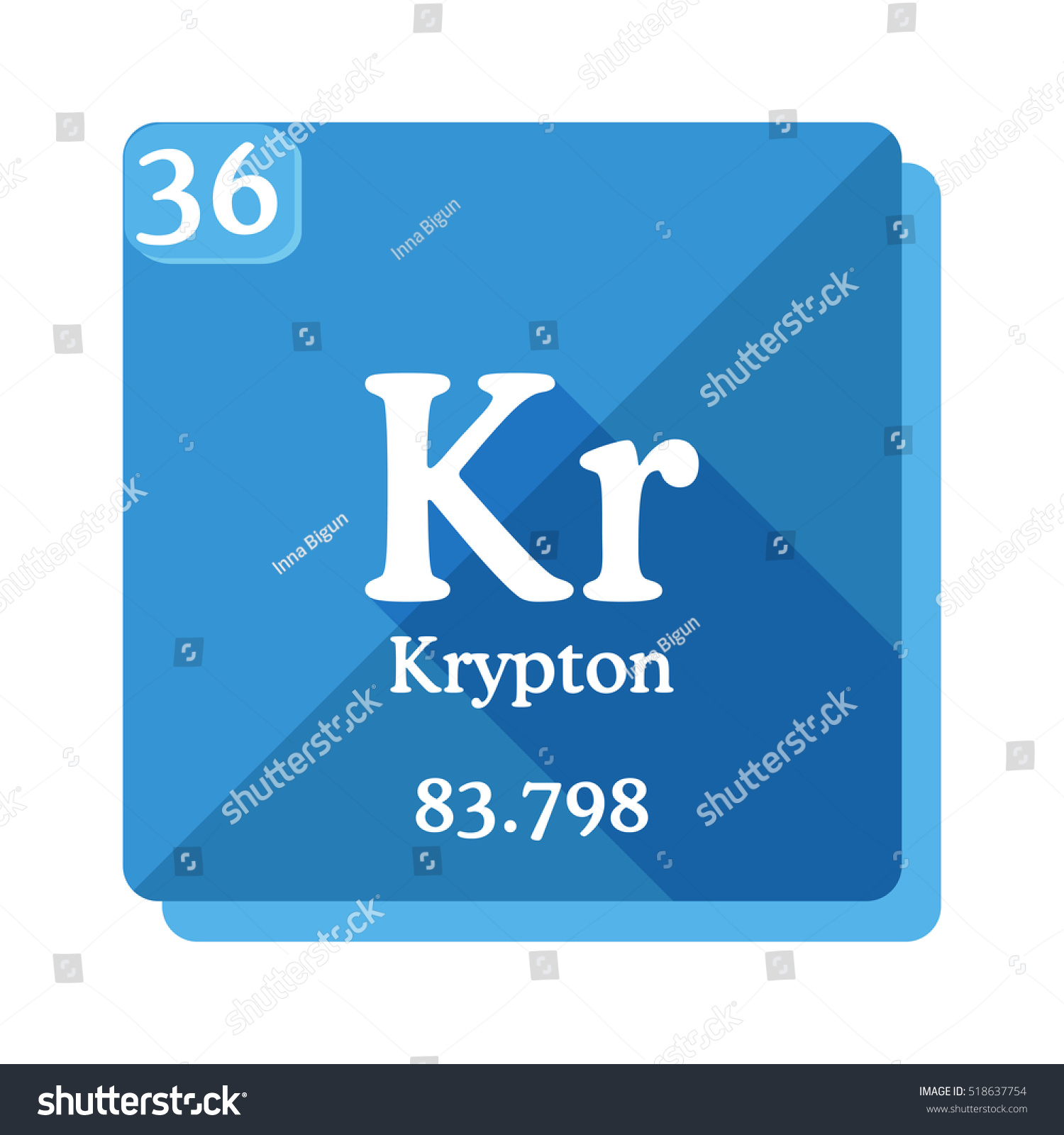 Kryptonite element periodic table image collections periodic krypton kr element periodic table flat stock vector 518637754 krypton kr element of the periodic table gamestrikefo Gallery