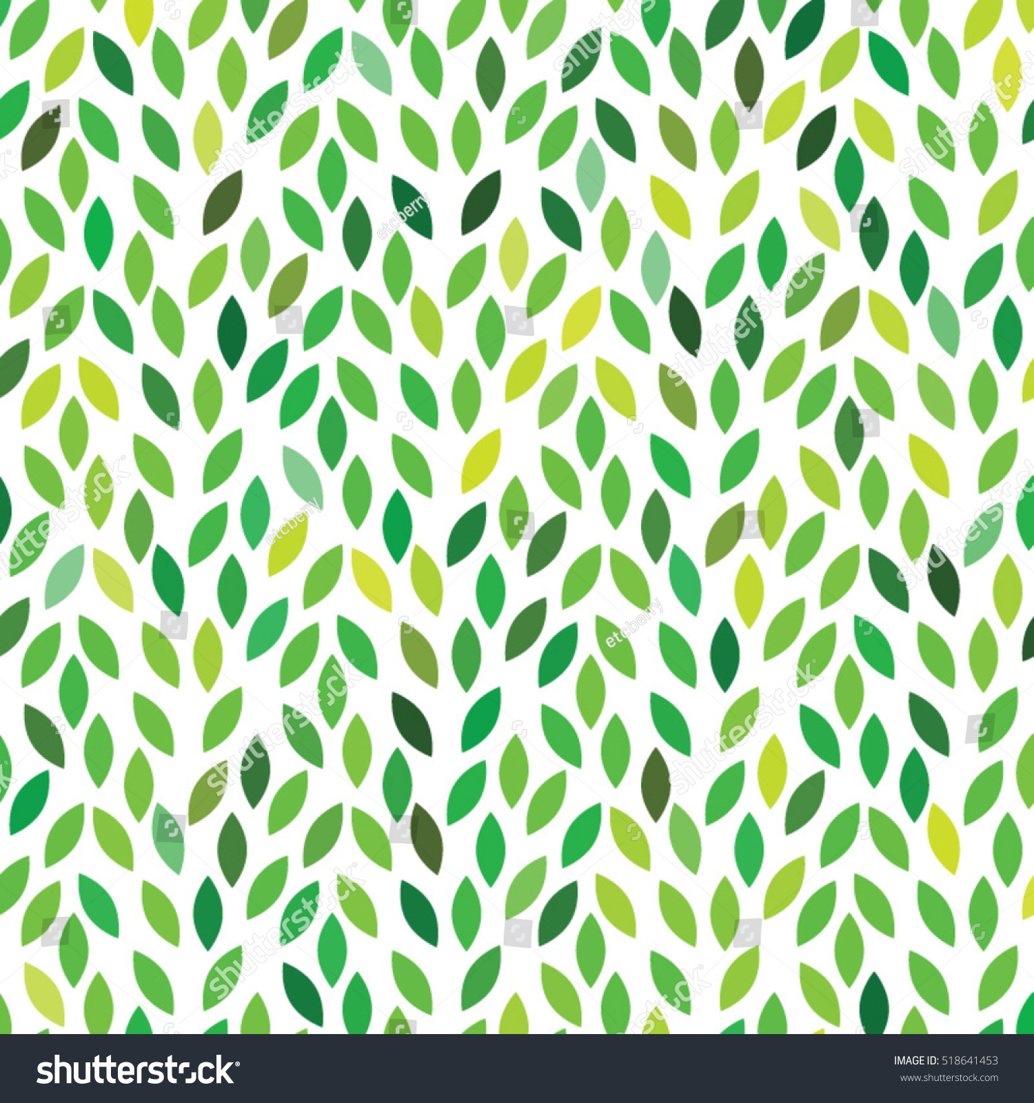 Vector Leaves Color Pattern Stock Vector 2018 518641453 Shutterstock