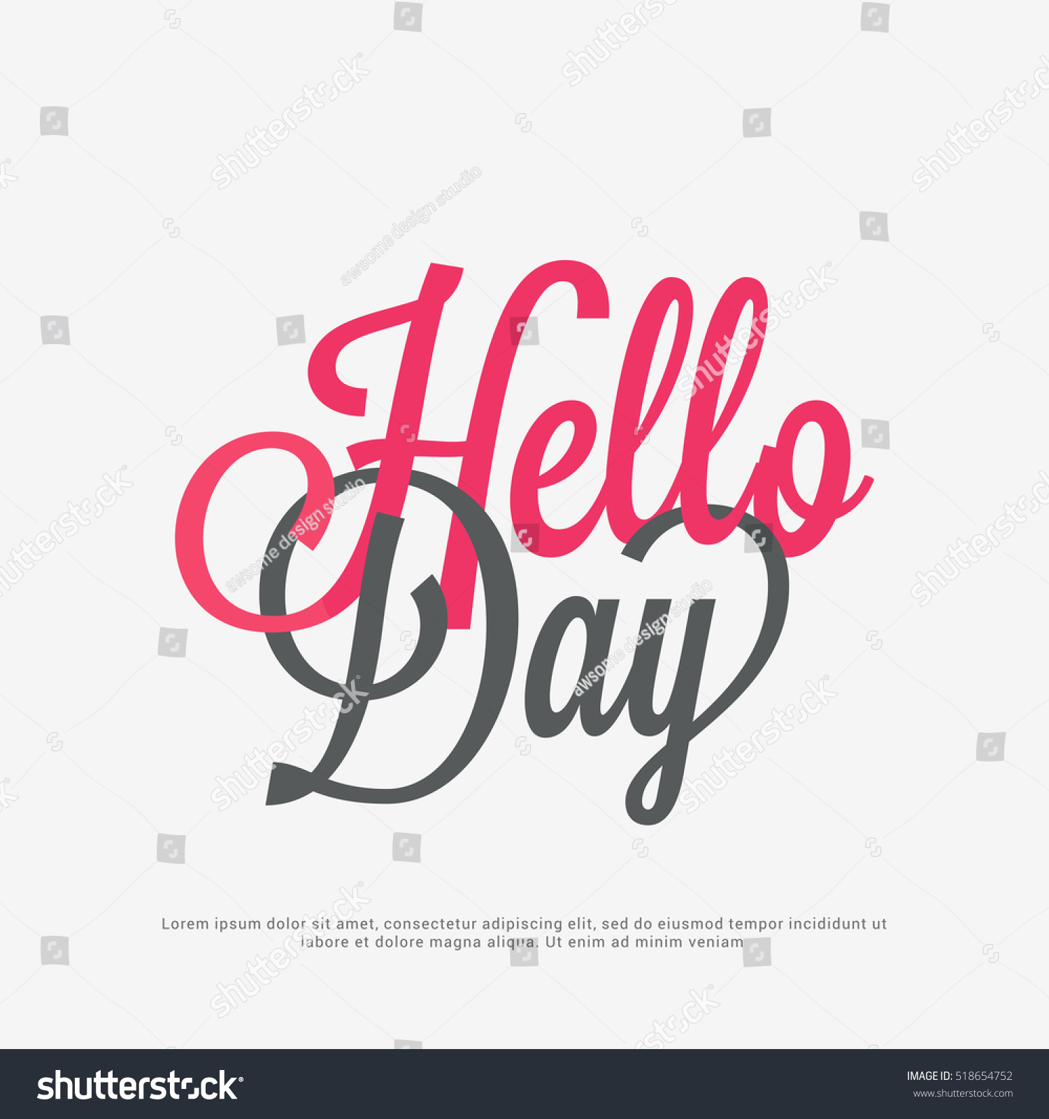 World Hello Day: Beautiful Poster Banner World Hello Day Stock Vector