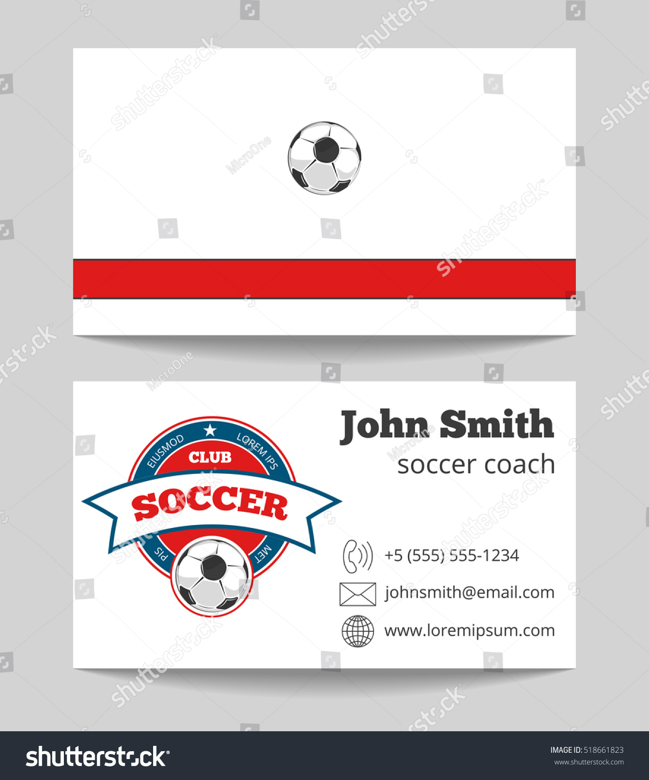 Soccer coach business card template logo stock illustration soccer coach business card template with logo football trainer card illustration magicingreecefo Gallery