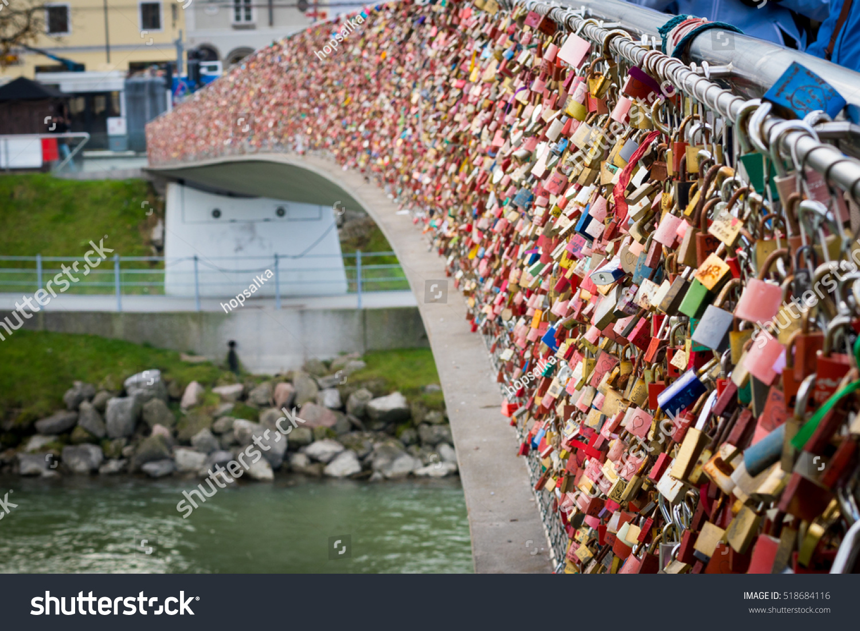 Close padlocks symbol everlasting love bridge stock photo close up of padlocks as a symbol of everlasting love at a bridge in salzburg biocorpaavc