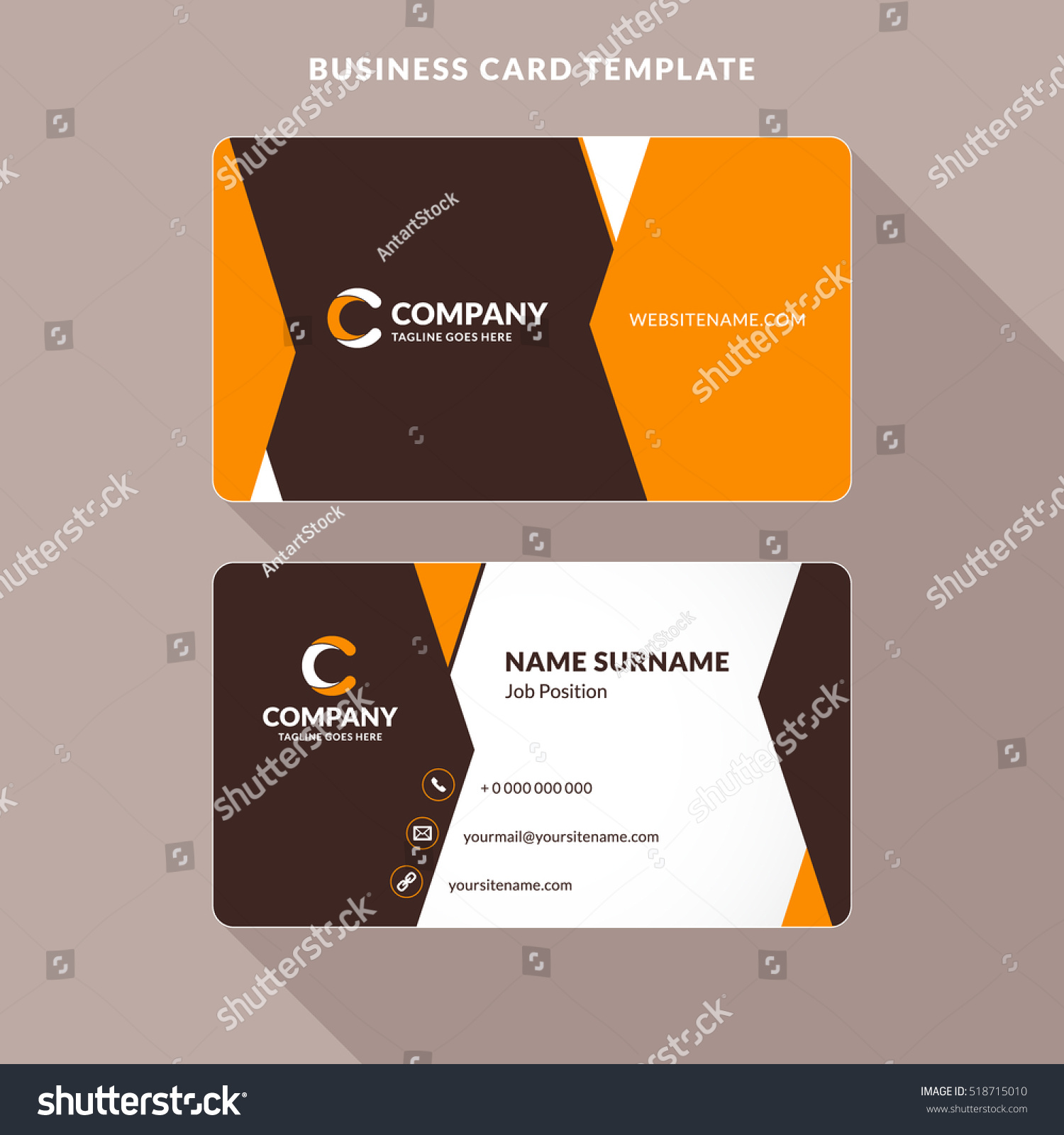 Two sided business card template word mandegarfo two sided business card template word cheaphphosting Image collections