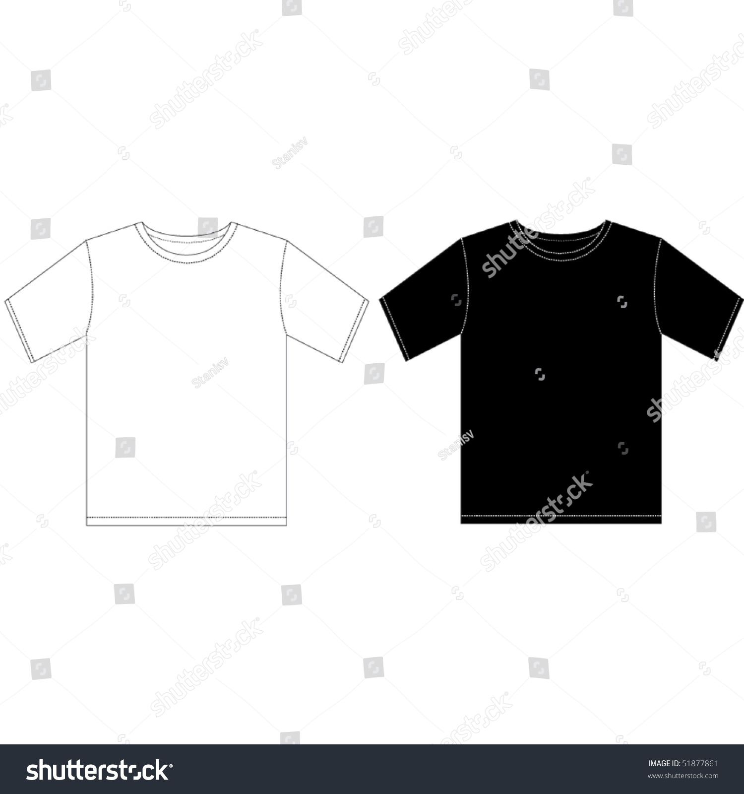 Black t shirt design template - Black And White Man T Shirt Design Template