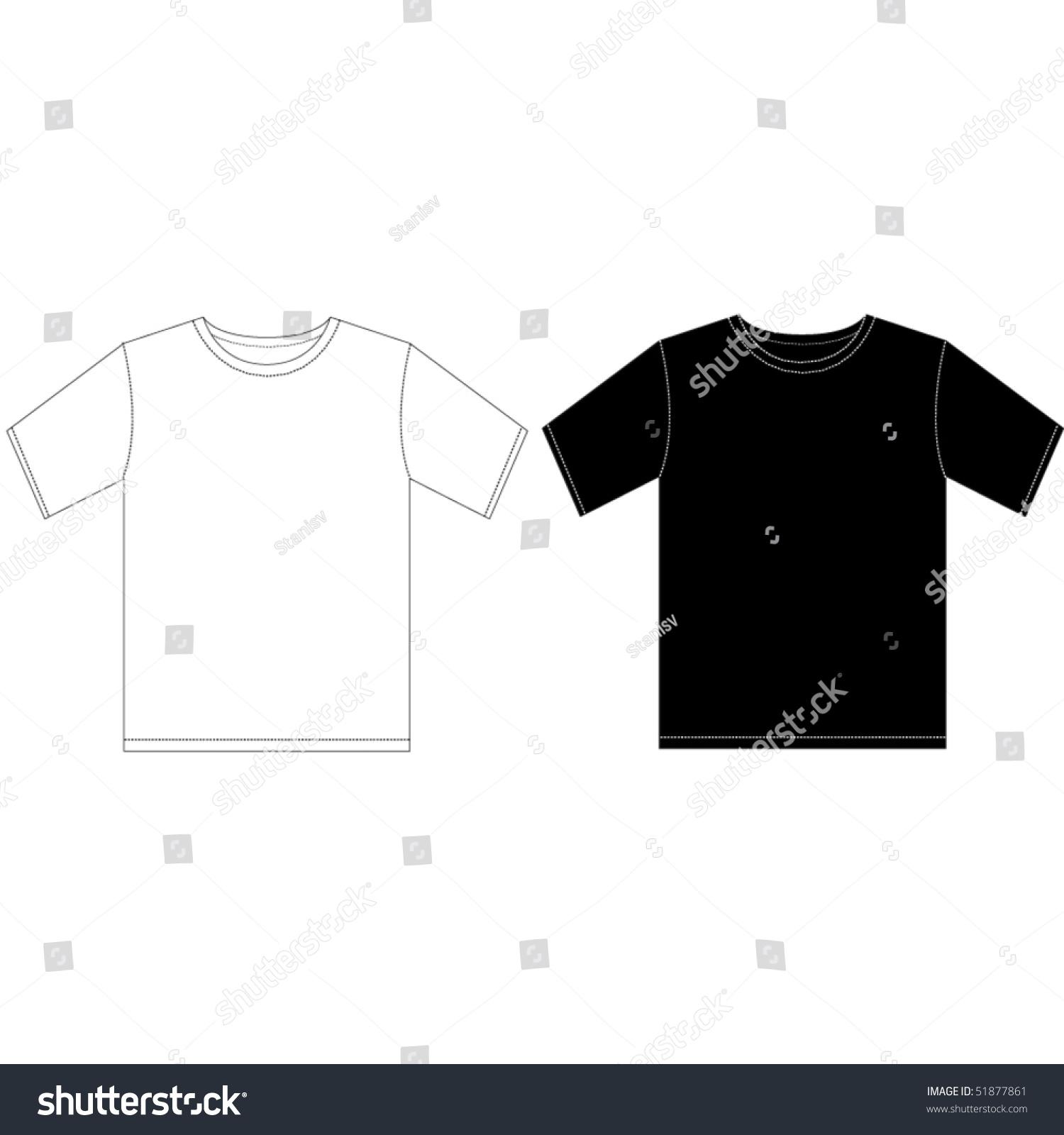 Black white man tshirt design template stock vector 51877861 black and white man t shirt design template pronofoot35fo Choice Image
