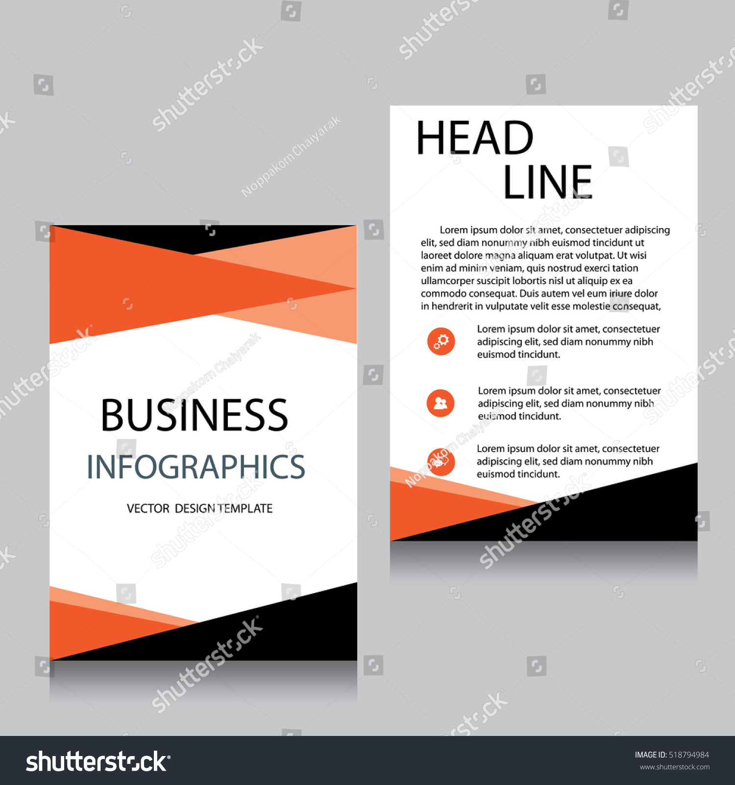 Vector brochure flyer design layout template stock vector for Brochure website templates