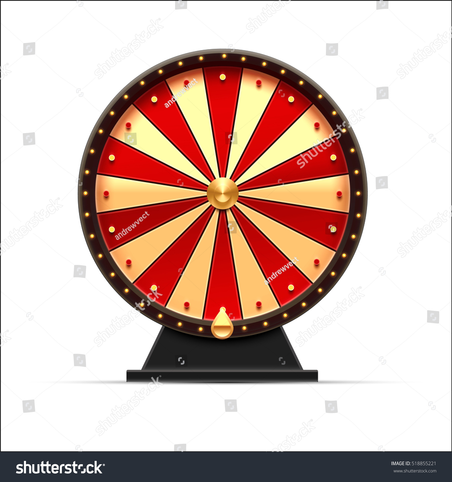 wheel fortune 3d object isolated on stock vector 518855221 shutterstock. Black Bedroom Furniture Sets. Home Design Ideas