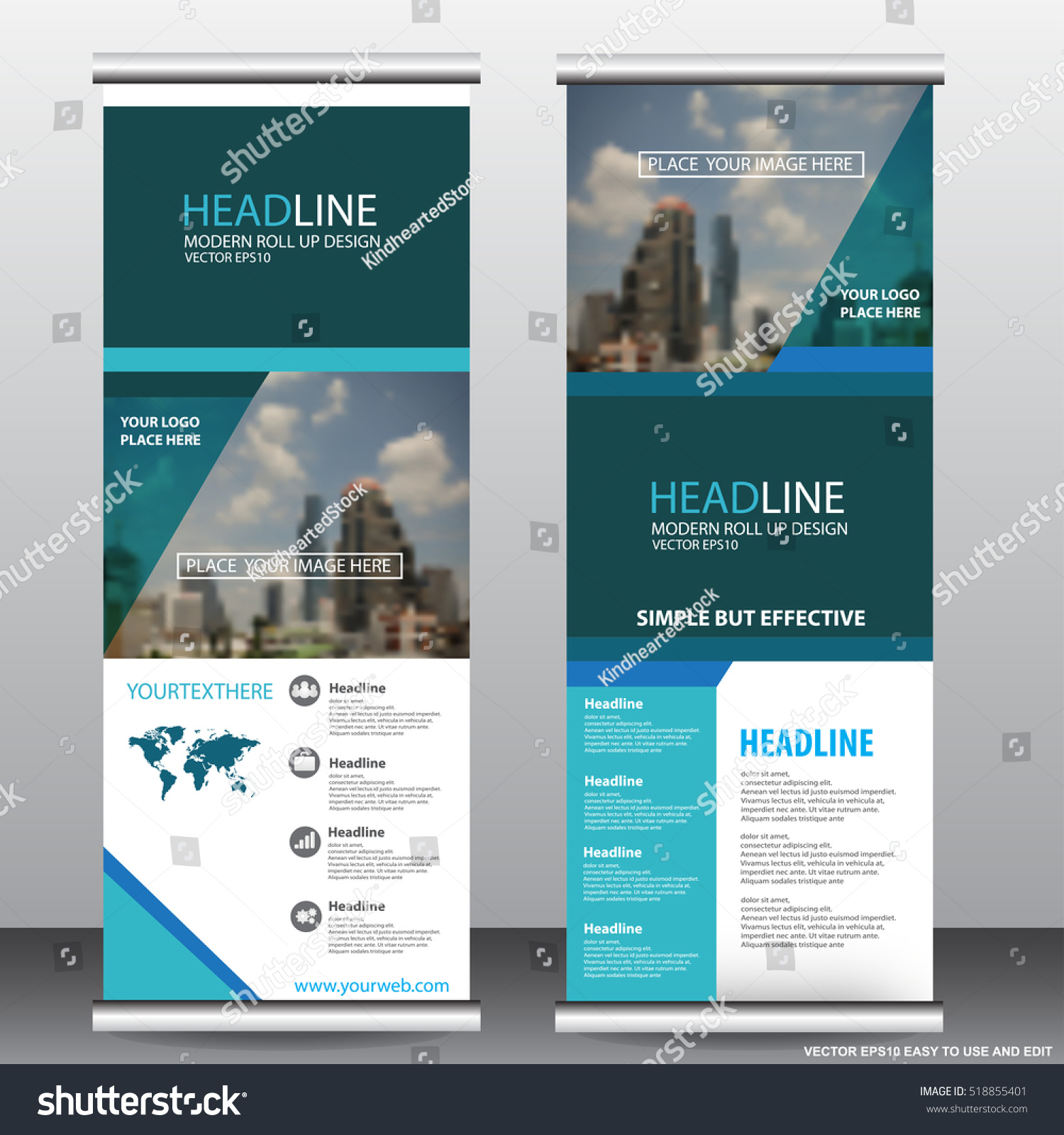 Green roll up business brochure flyer banner design vertical template - Blue Roll Up Business Brochure Flyer Banner Design Vertical Template Vector Cover Presentation Infographics