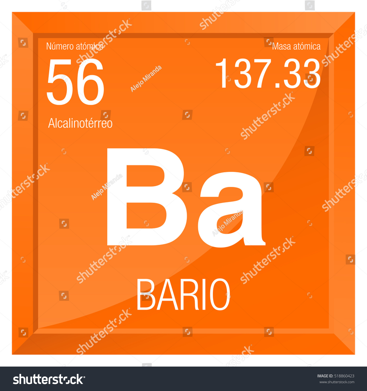 Bario symbol barium spanish language element stock vector bario symbol barium in spanish language element number 56 of the periodic table of gamestrikefo Image collections