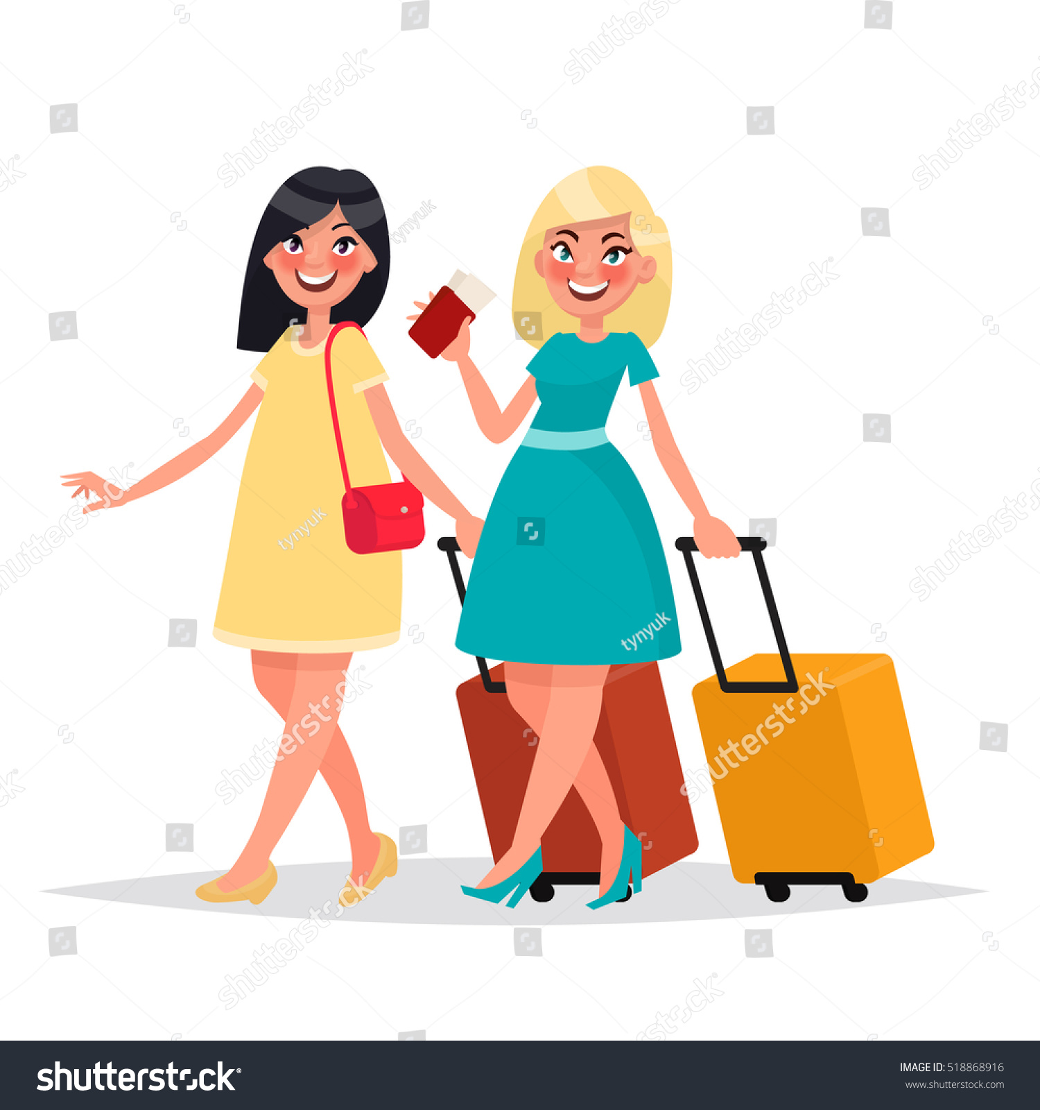 two friends women luggage gone travel stock vector free printable airplane clipart free printable airplane clipart