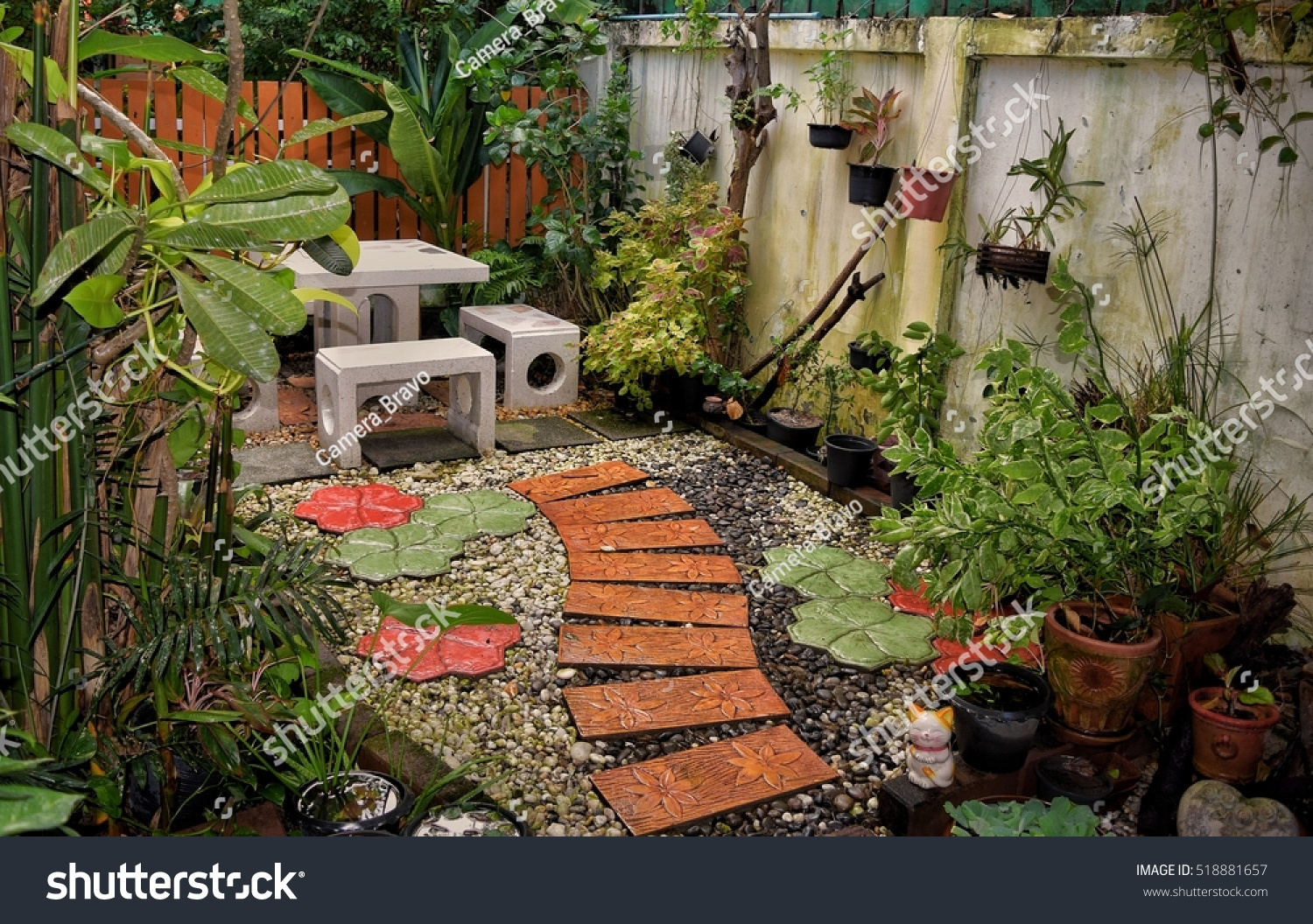 Small Garden House Beautifully Decorated Shady Stock Photo (Edit Now ...