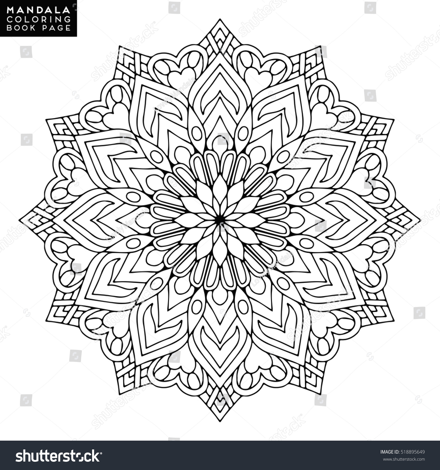 Co coloring book page template - Co Coloring Book Wedding Template Mandala Vector Floral Flower Oriental Coloring Book Page Outline