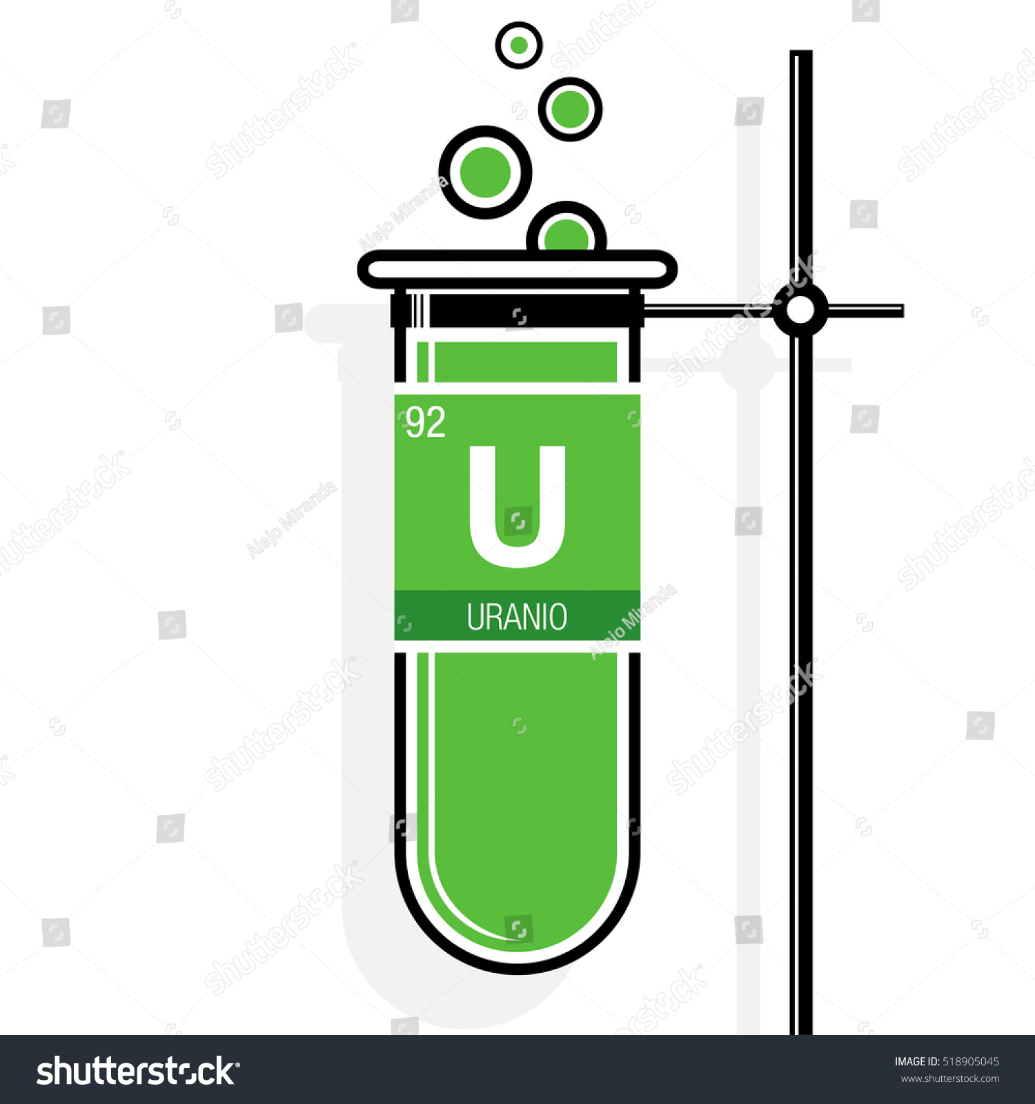 Uranio Symbol Uranium Spanish Language On Stock Photo (Photo, Vector ...
