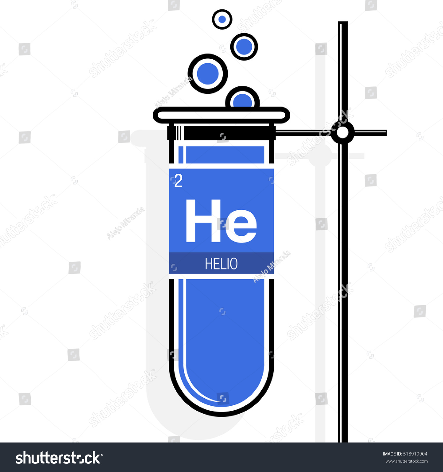 Helio symbol helium spanish language on stock vector 518919904 helio symbol helium in spanish language on label in a blue test tube with gamestrikefo Images
