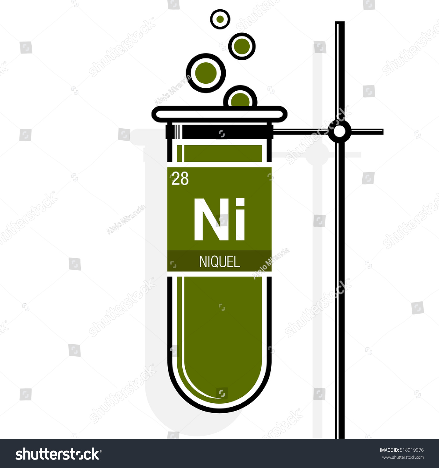 Niquel symbol nickel spanish language on stock vector 518919976 niquel symbol nickel in spanish language on label in a green test tube with buycottarizona Gallery
