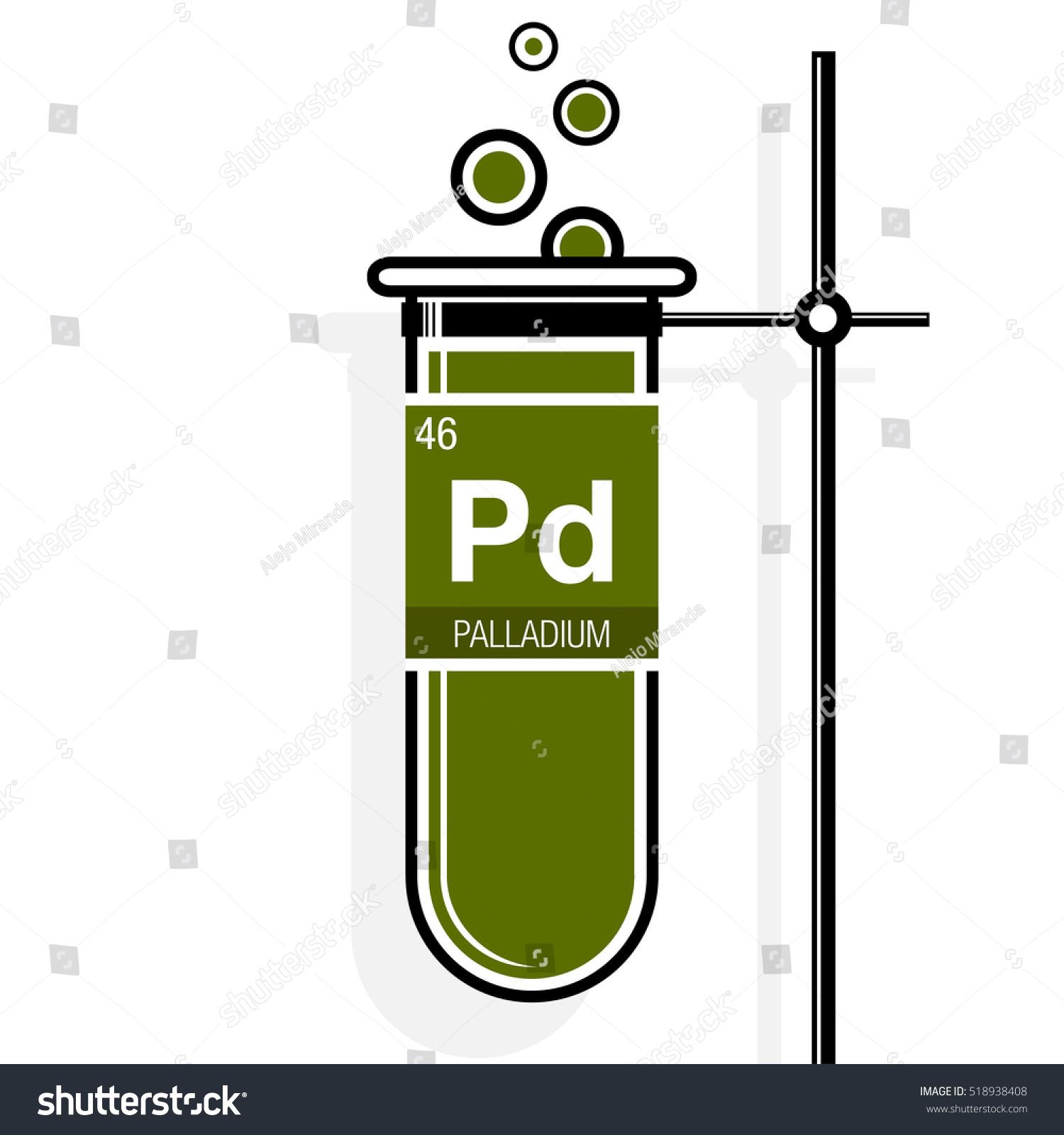 Palladium Symbol On Label Green Test Stock Vector 518938408