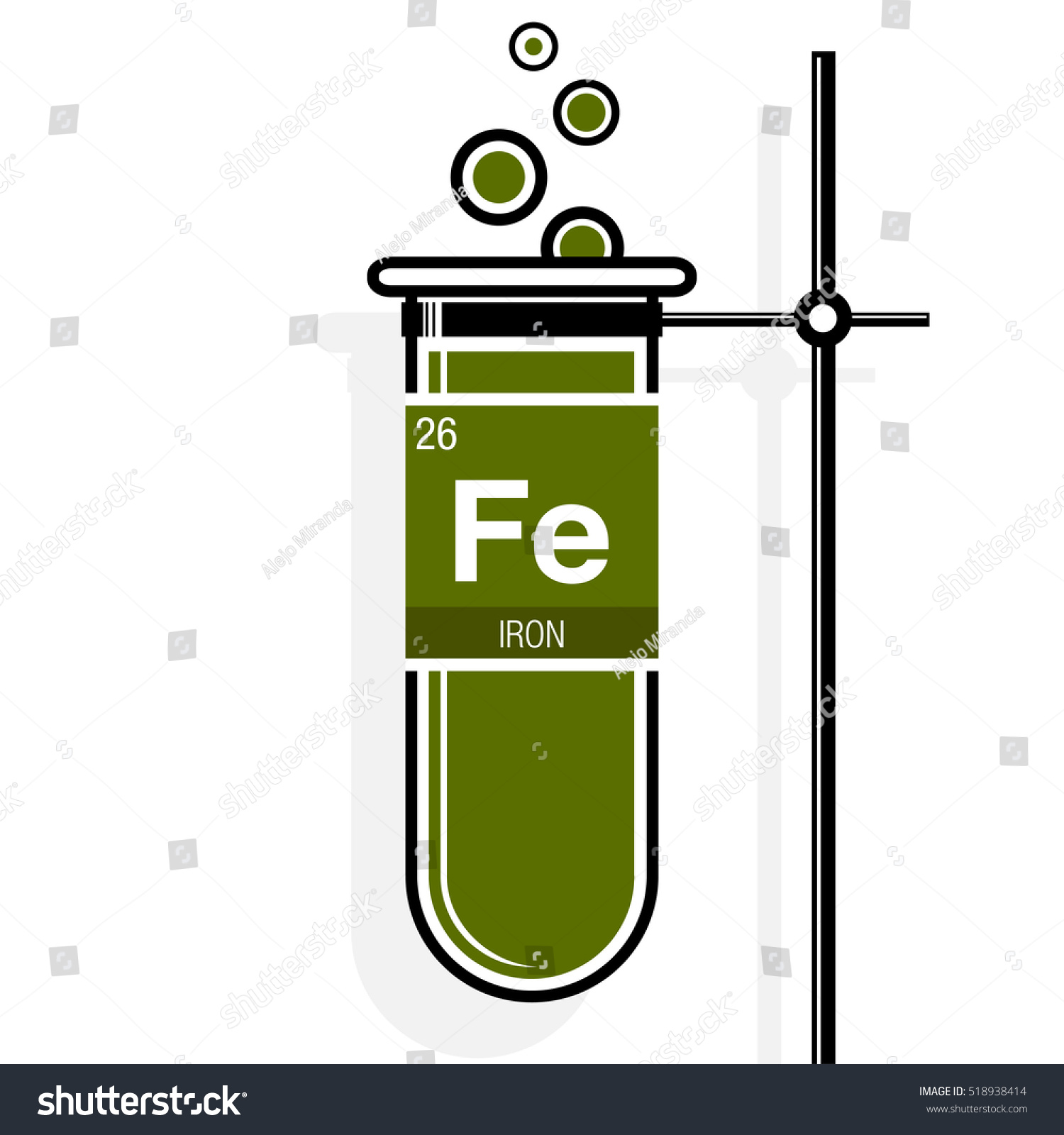 Periodic table symbol for iron choice image periodic table images iron symbol on label green test stock vector 518938414 shutterstock iron symbol on label in a gamestrikefo Image collections