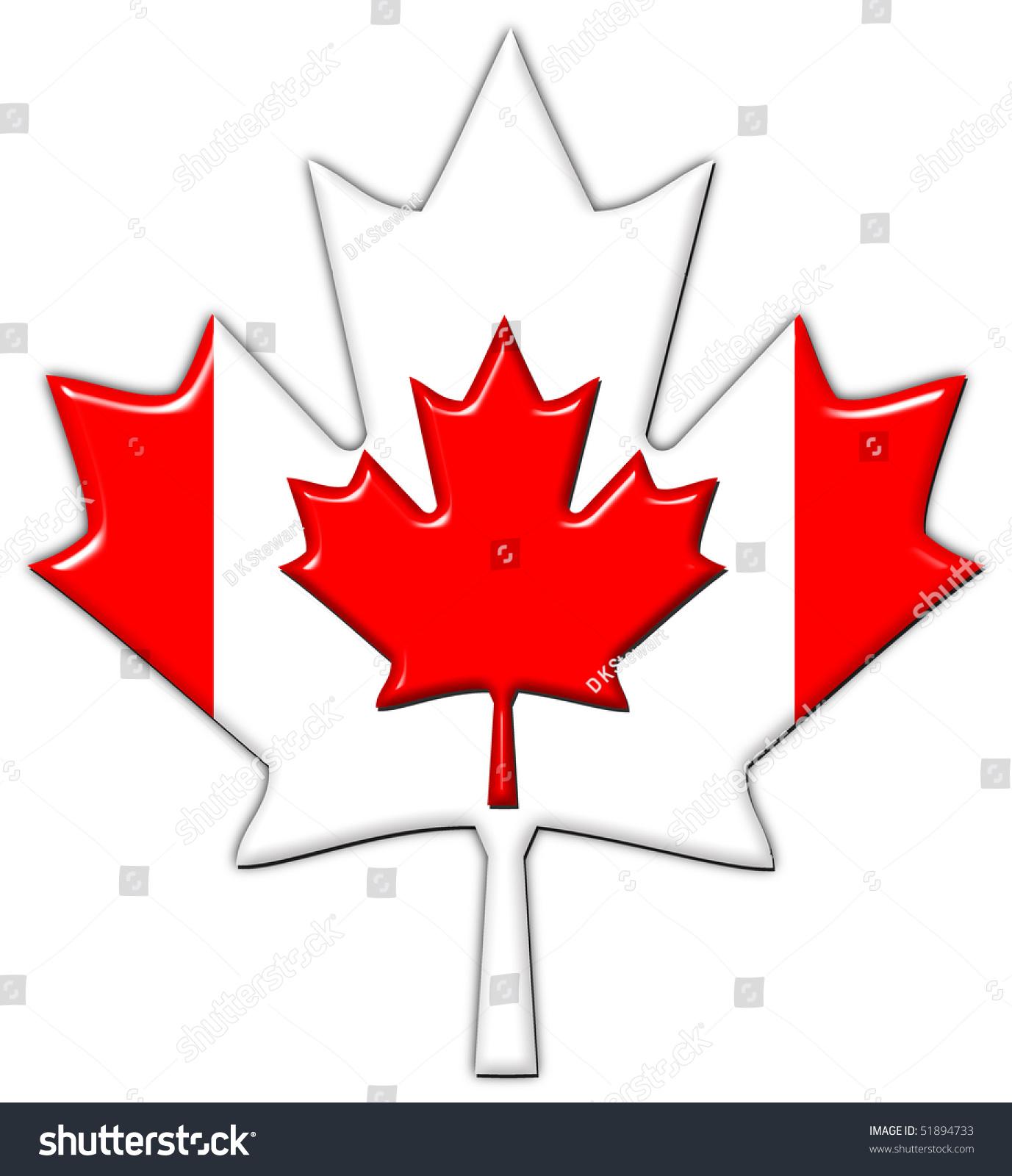 canada flag maple leaf stock illustration 51894733 shutterstock