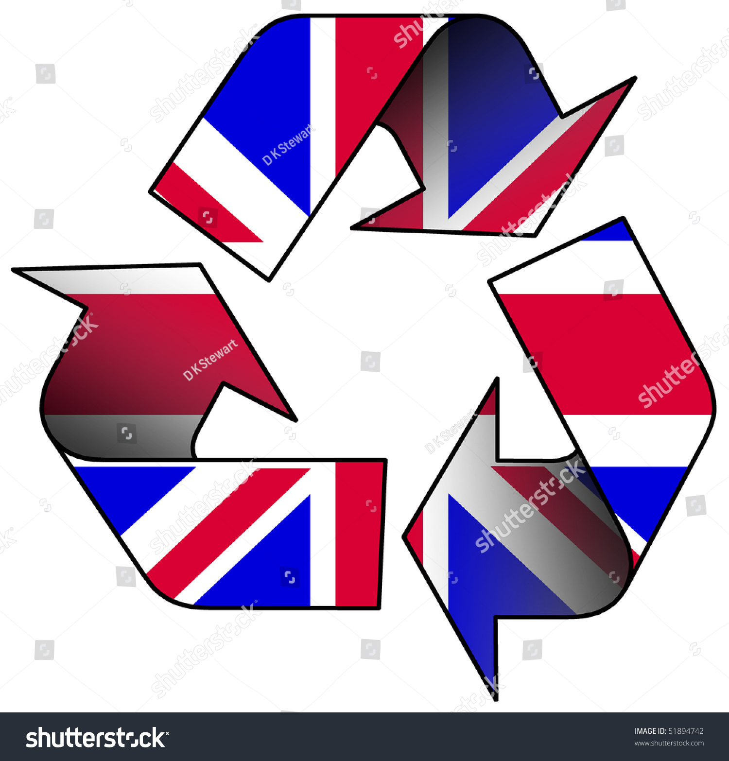Recycle logo containing uk flag stock illustration 51894742 recycle logo containing uk flag biocorpaavc