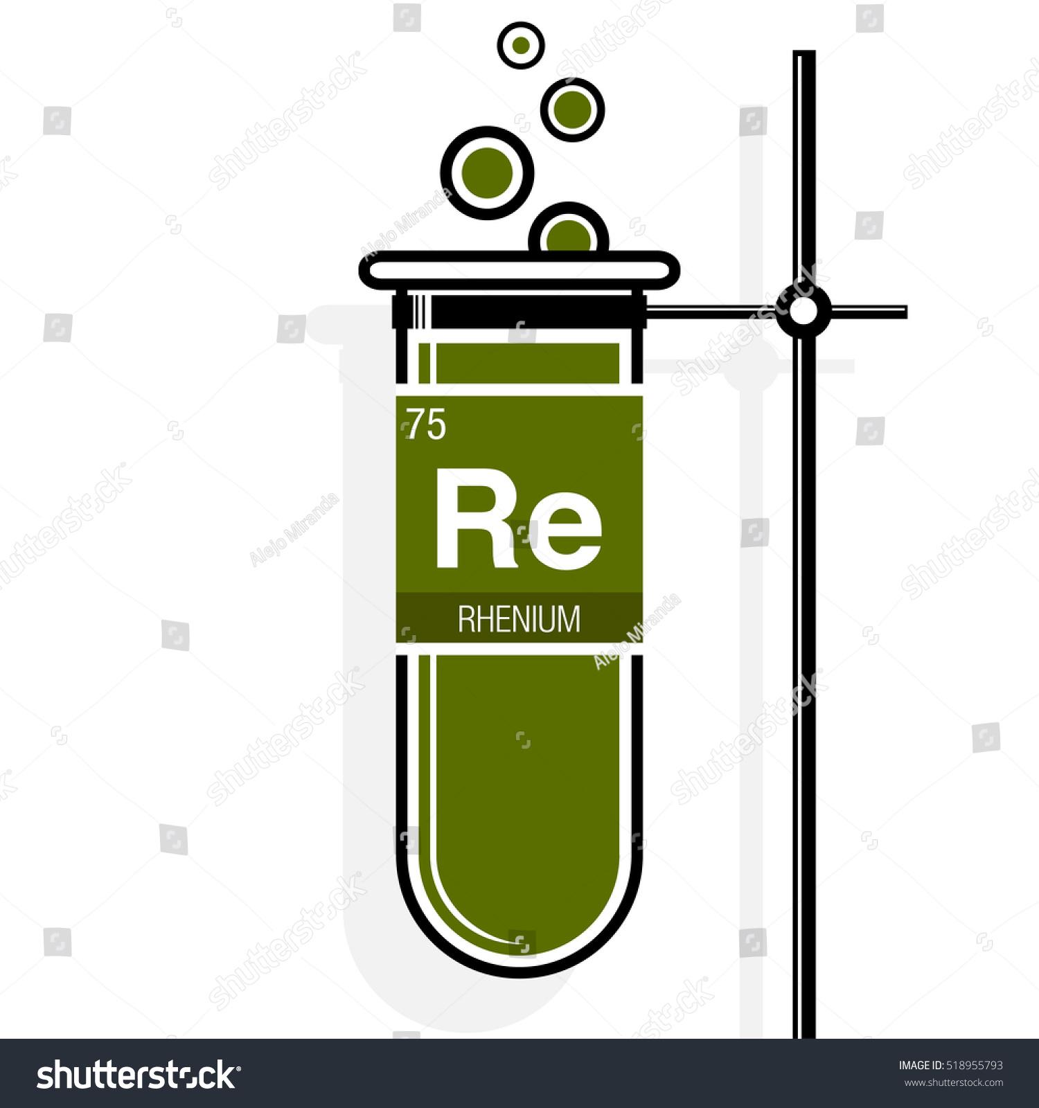 Rhenium symbol on label green test stock vector 518955793 shutterstock rhenium symbol on label in a green test tube with holder element number 75 of urtaz Choice Image