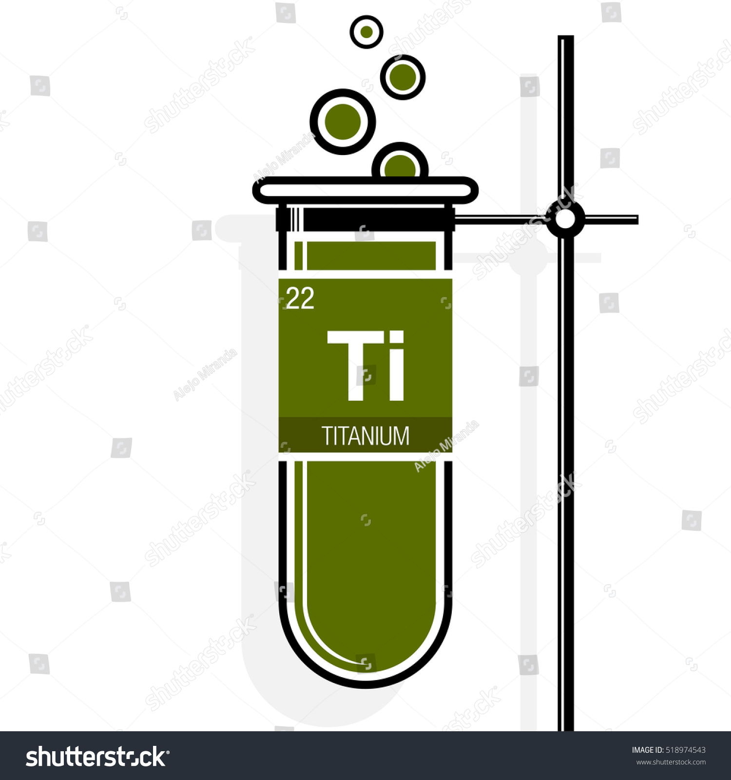 Titanium symbol on label green test stock vector 518974543 titanium symbol on label in a green test tube with holder element number 22 of urtaz Image collections
