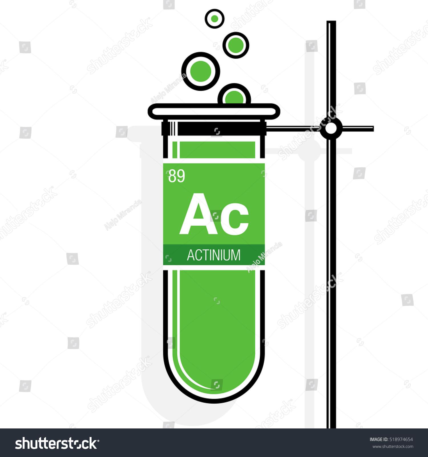 Actinium Symbol On Label Green Test Stock Vector 518974654