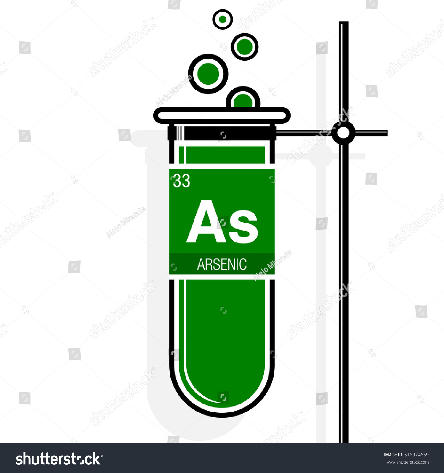 Arsenic symbol on label green test stock vector 518974669 arsenic symbol on label in a green test tube with holder element number 33 of biocorpaavc Image collections