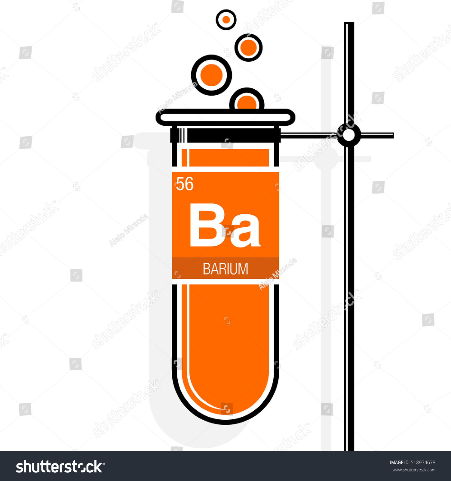Barium symbol on label orange test stock vector 518974678 barium symbol on label in a orange test tube with holder element number 56 of gamestrikefo Gallery