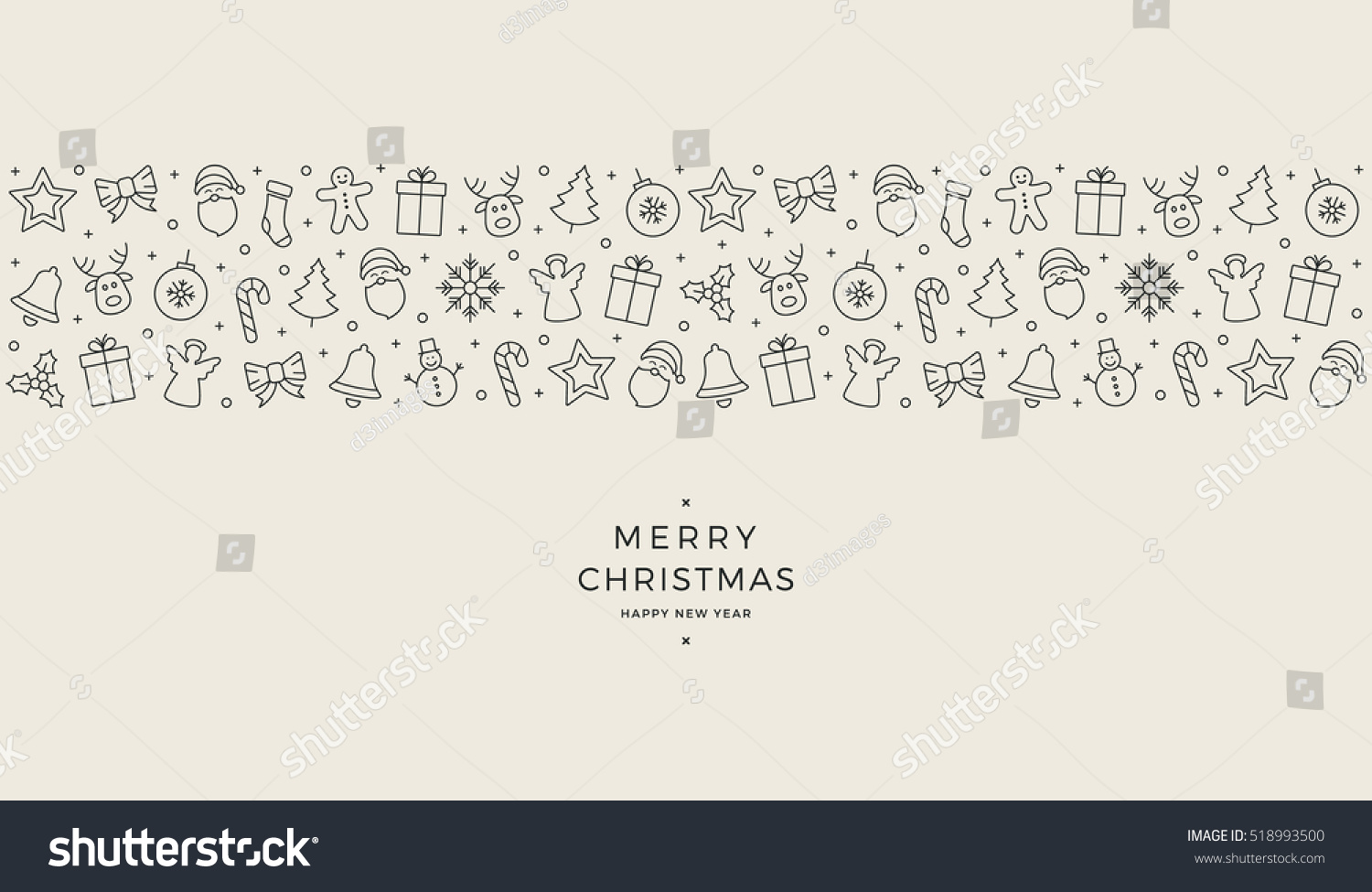 christmas element icons banner background #518993500