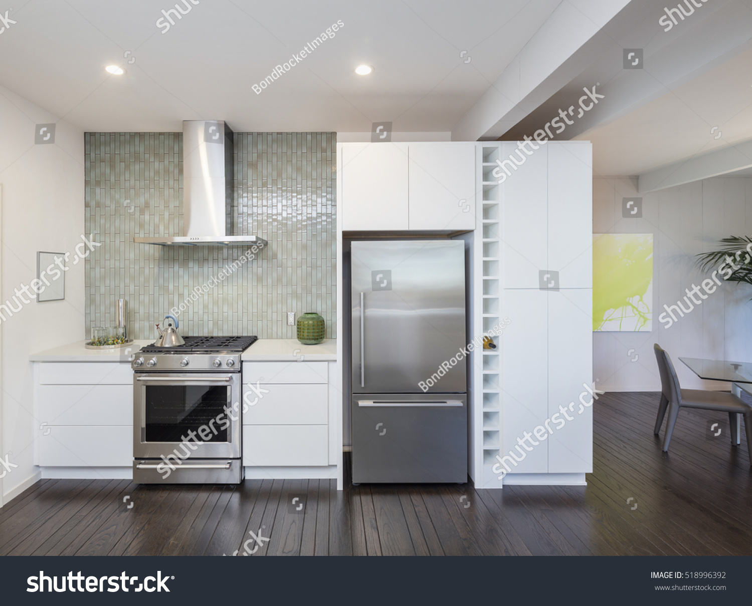modern kitchen interior design concept new stock photo 518996392 shutterstock. Black Bedroom Furniture Sets. Home Design Ideas