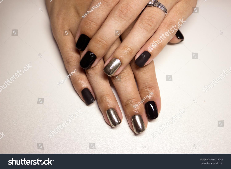 Beautiful Manicure Nails Nail Design Matt Stock Photo (Royalty Free ...