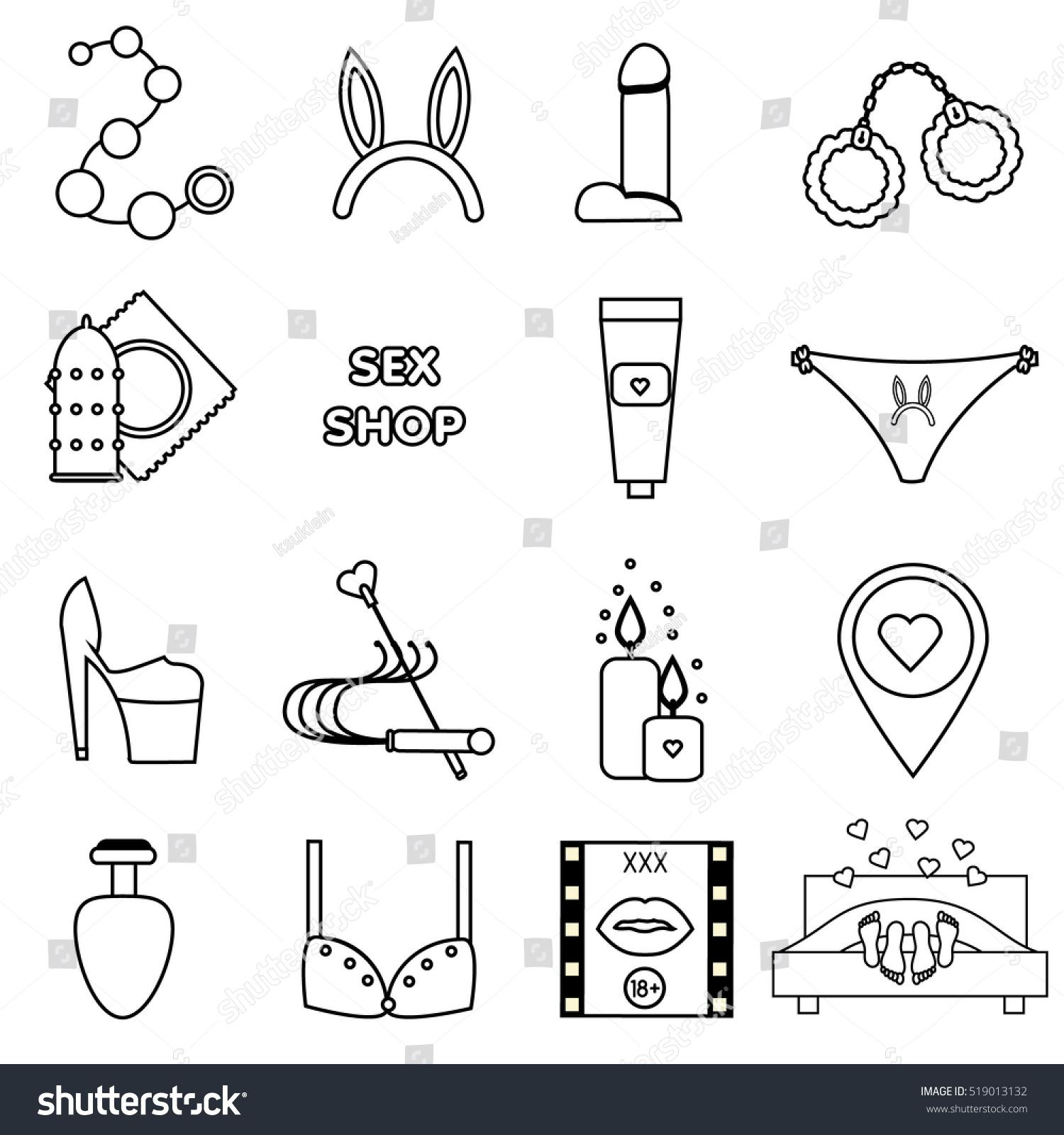 Erotic sex text symbols