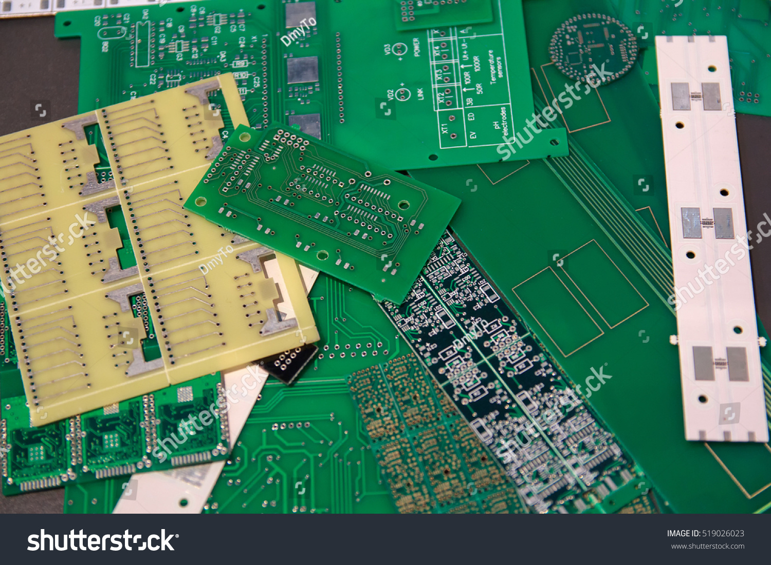 Billets Various Printed Circuit Boards Manufacture Stock Photo Edit Production Board Buy Pcb Boardpcb Of For The Electronic Components Industry