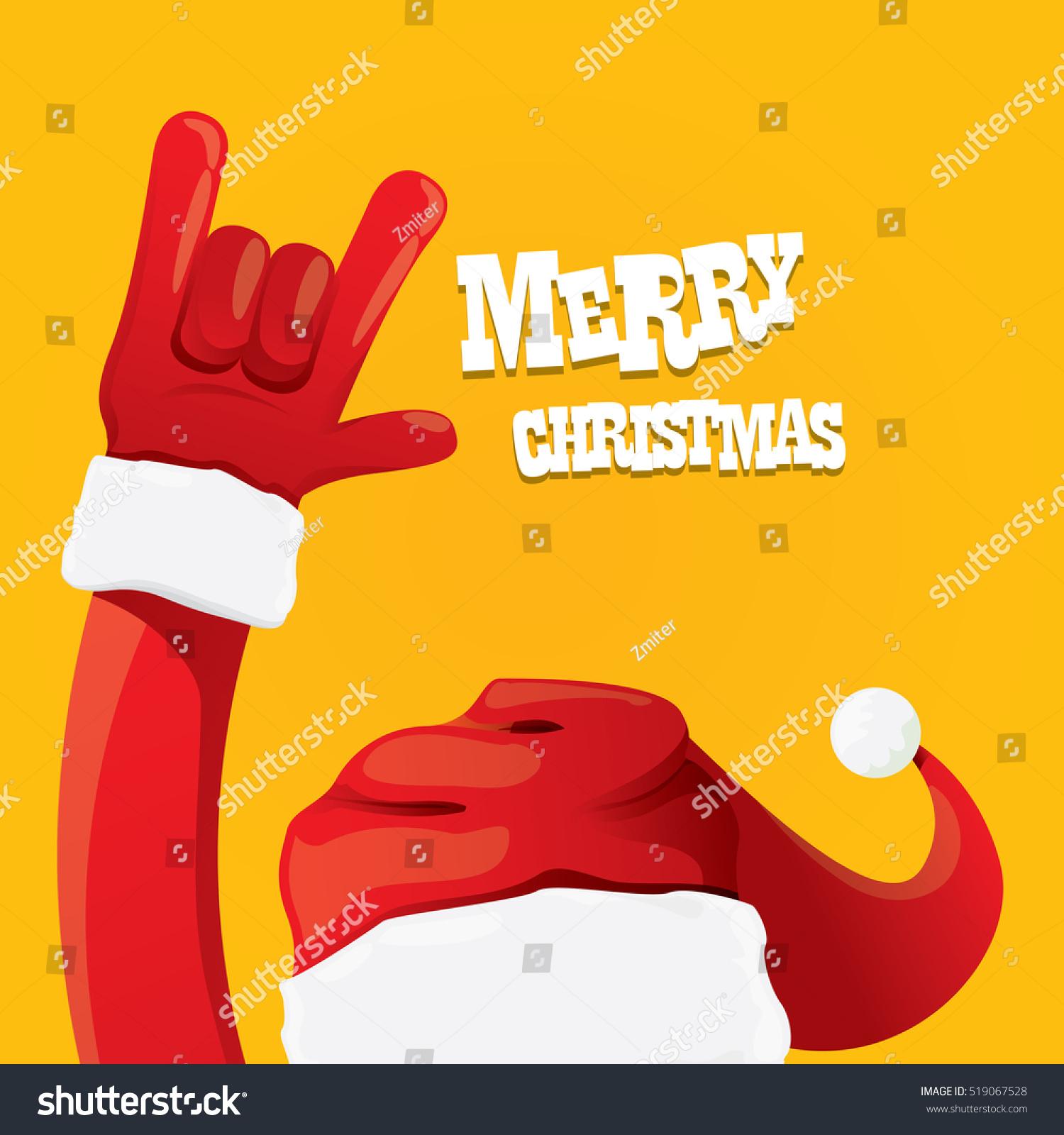Santa Claus Hand Rock N Roll Stock-Vektorgrafik (Lizenzfrei ...