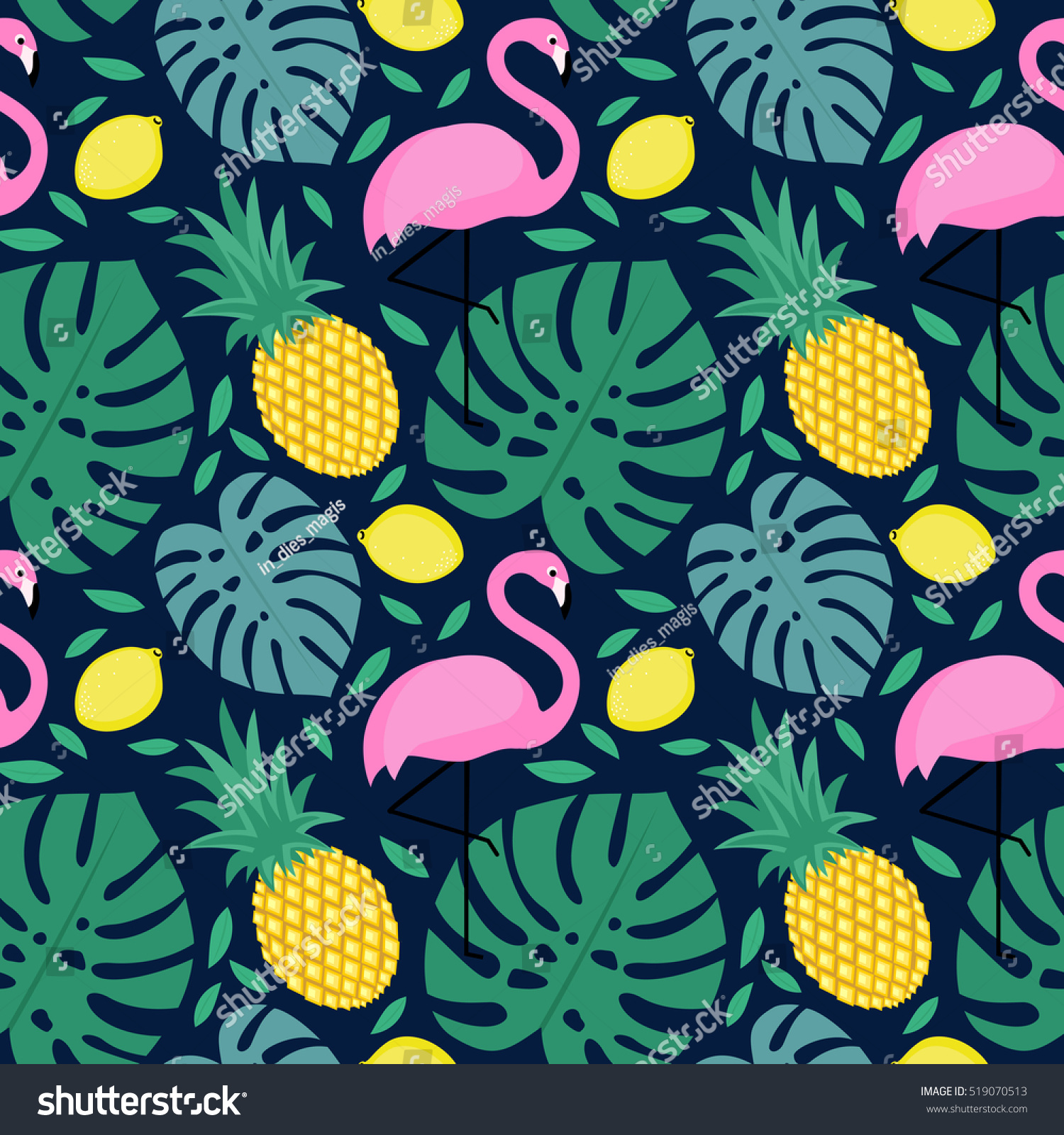Pineapple Background Design - ma