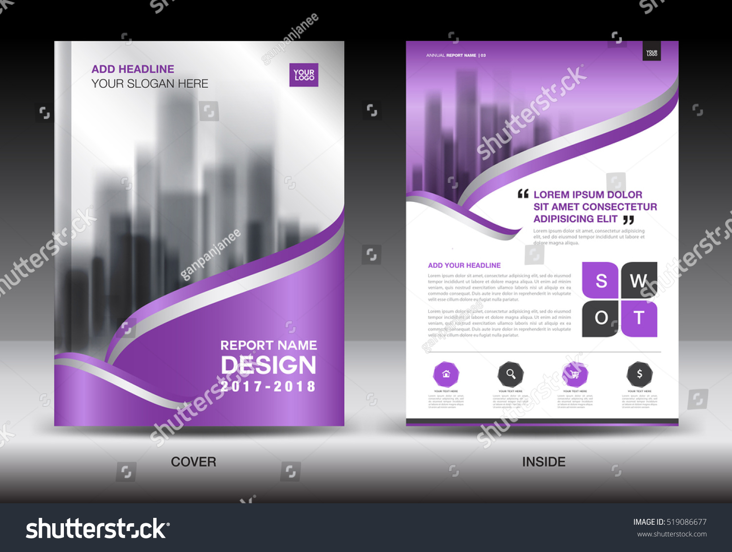 annual report brochure flyer template purple stock vector annual report brochure flyer template purple cover design business layout advertisement book