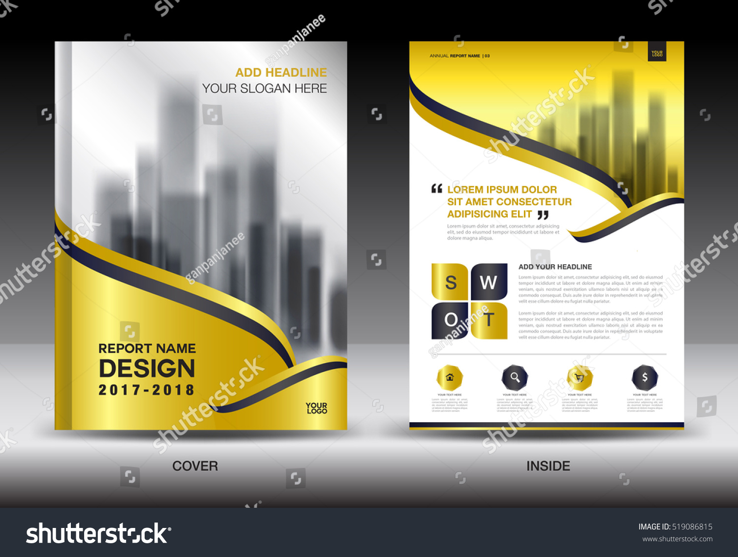 annual report brochure flyer template gold stock vector  annual report brochure flyer template gold cover design business advertisement magazine ads