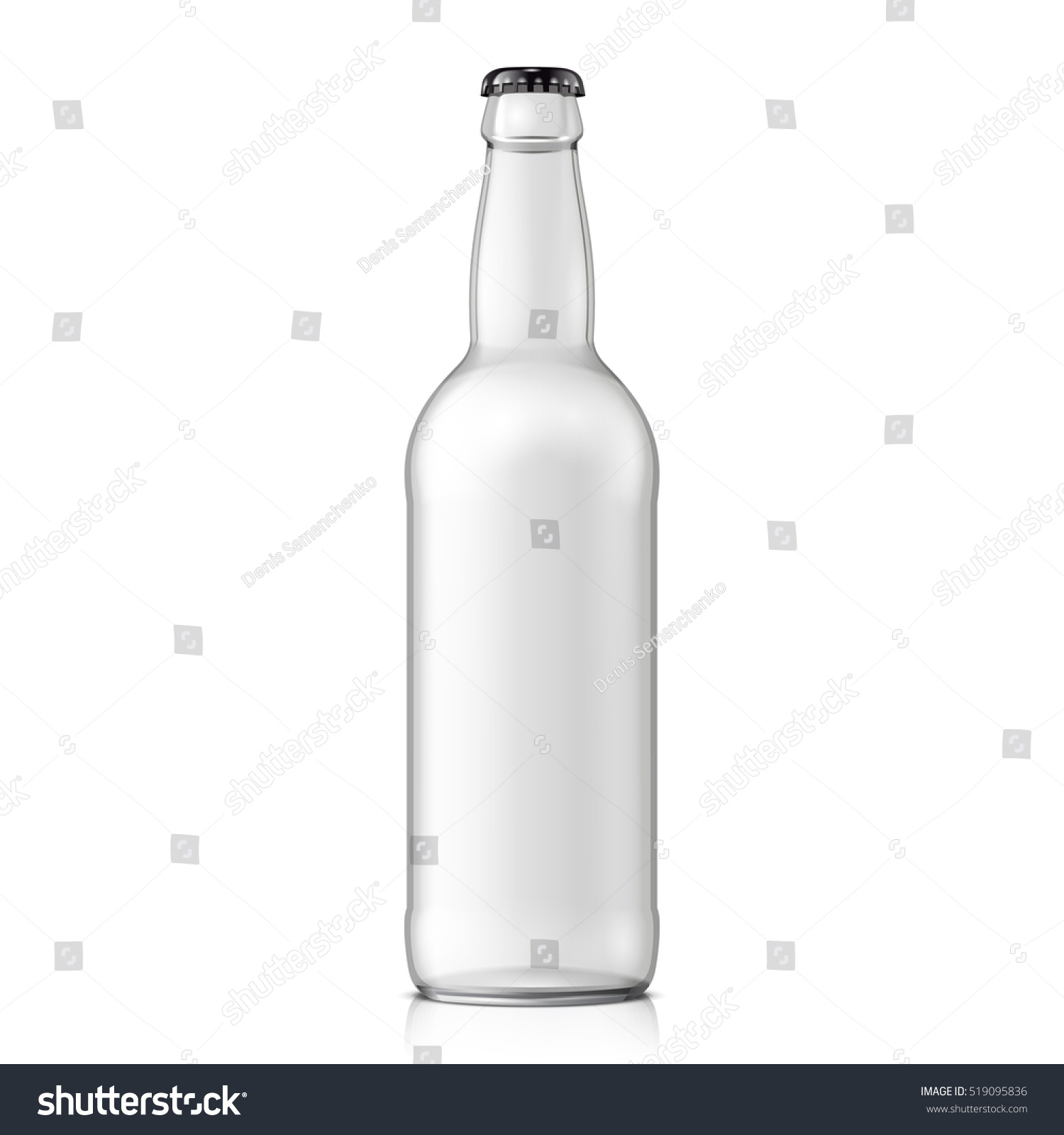 water bottle template