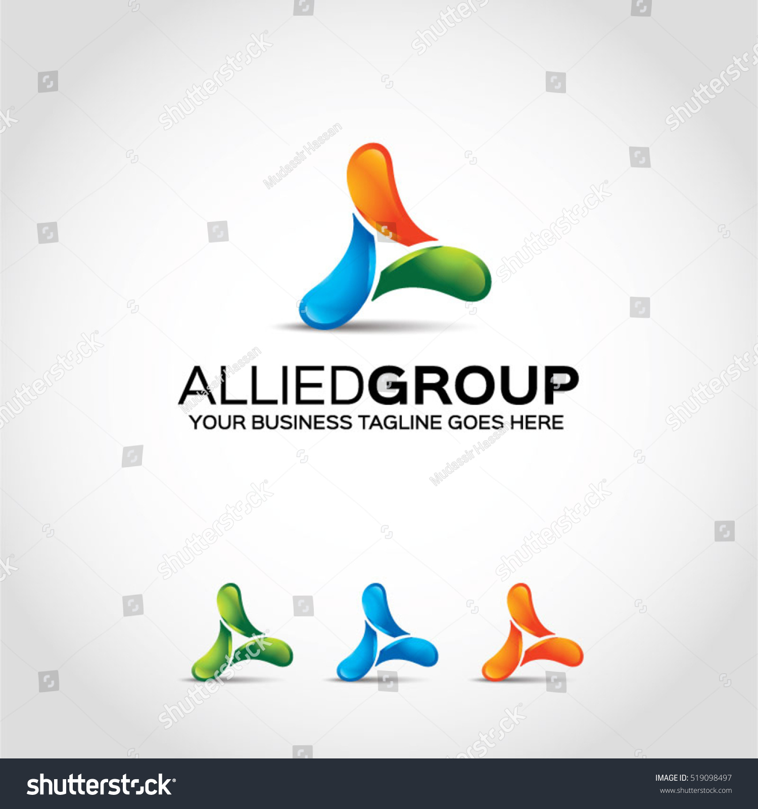 Universal Music Group Stock Quote: Allied Group A Logo Template Stock Vector 519098497