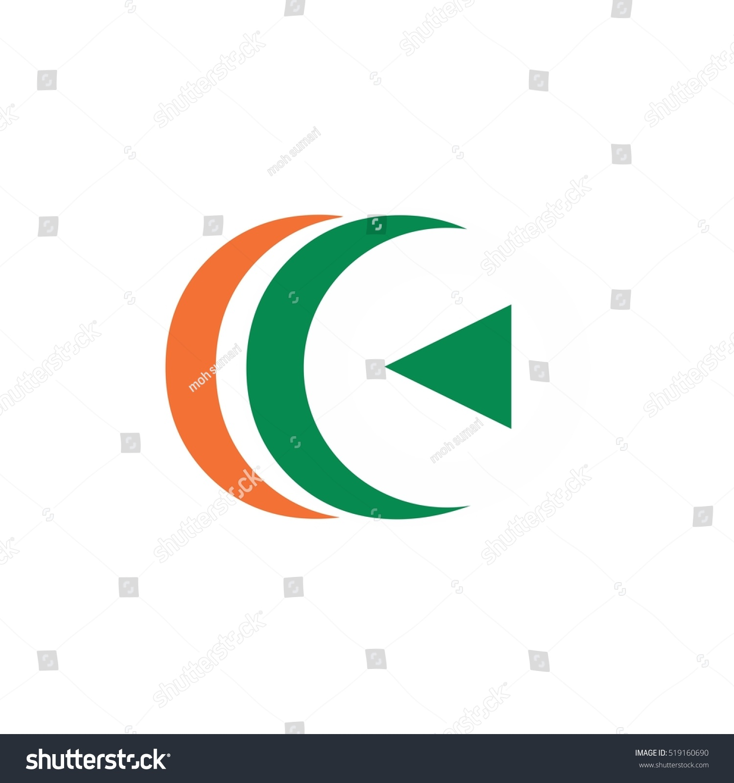 Play Two C Logo Stock Vector Royalty Free 519160690 Shutterstock