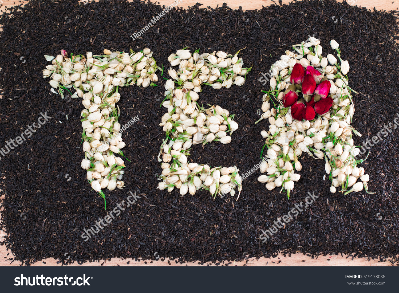 Word Tea Made Dried Jasmine Flower Stock Photo Edit Now 519178036