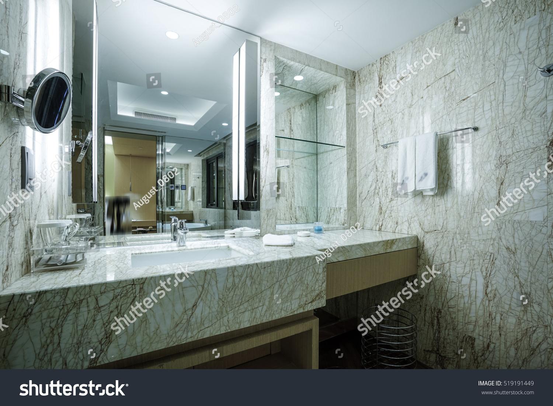 Modern En Suite Bathroom Large Shower Stock Photo (Royalty Free ...