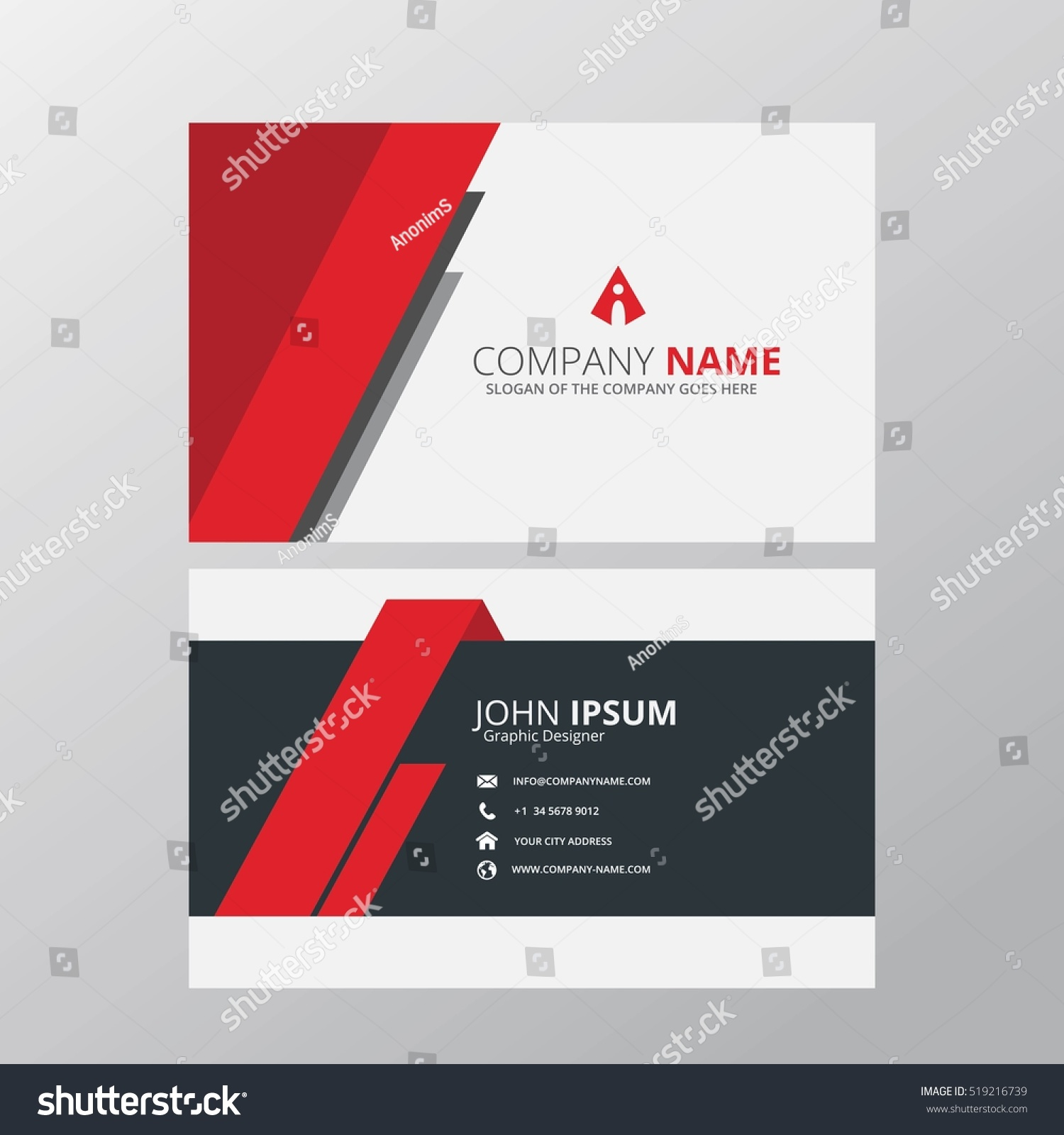 modern creative clean business card design stock vector