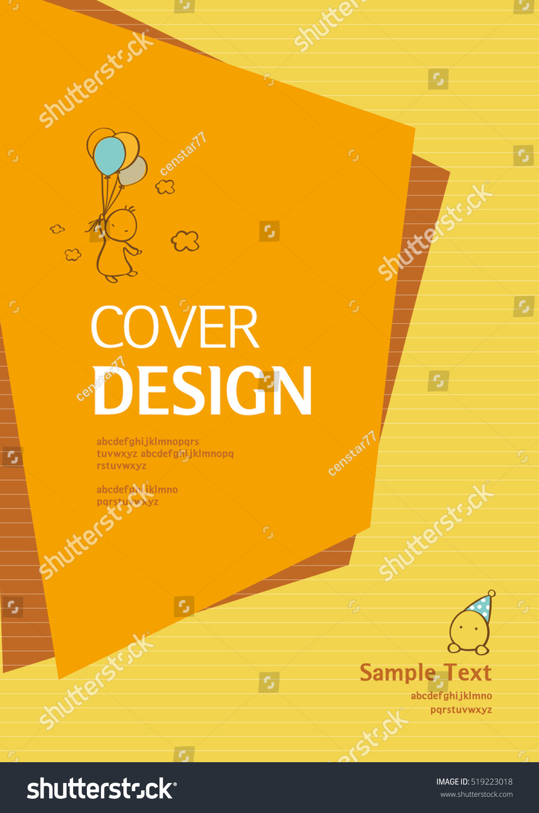 Book Cover Design Eps : Book cover design vector template a stock